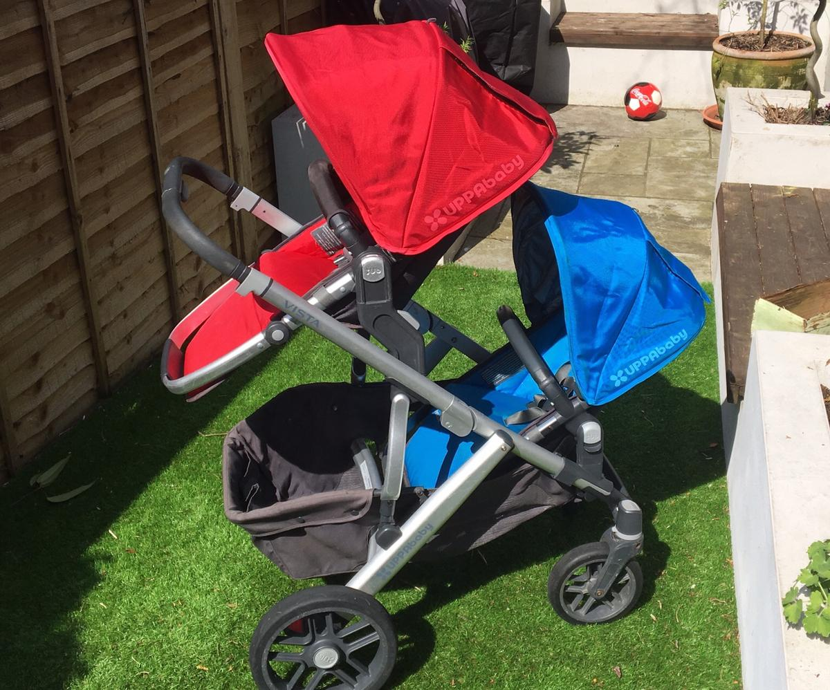 Uppababy Vista 2015 Double Buggy In Tw11 Thames For 360 00 For Sale