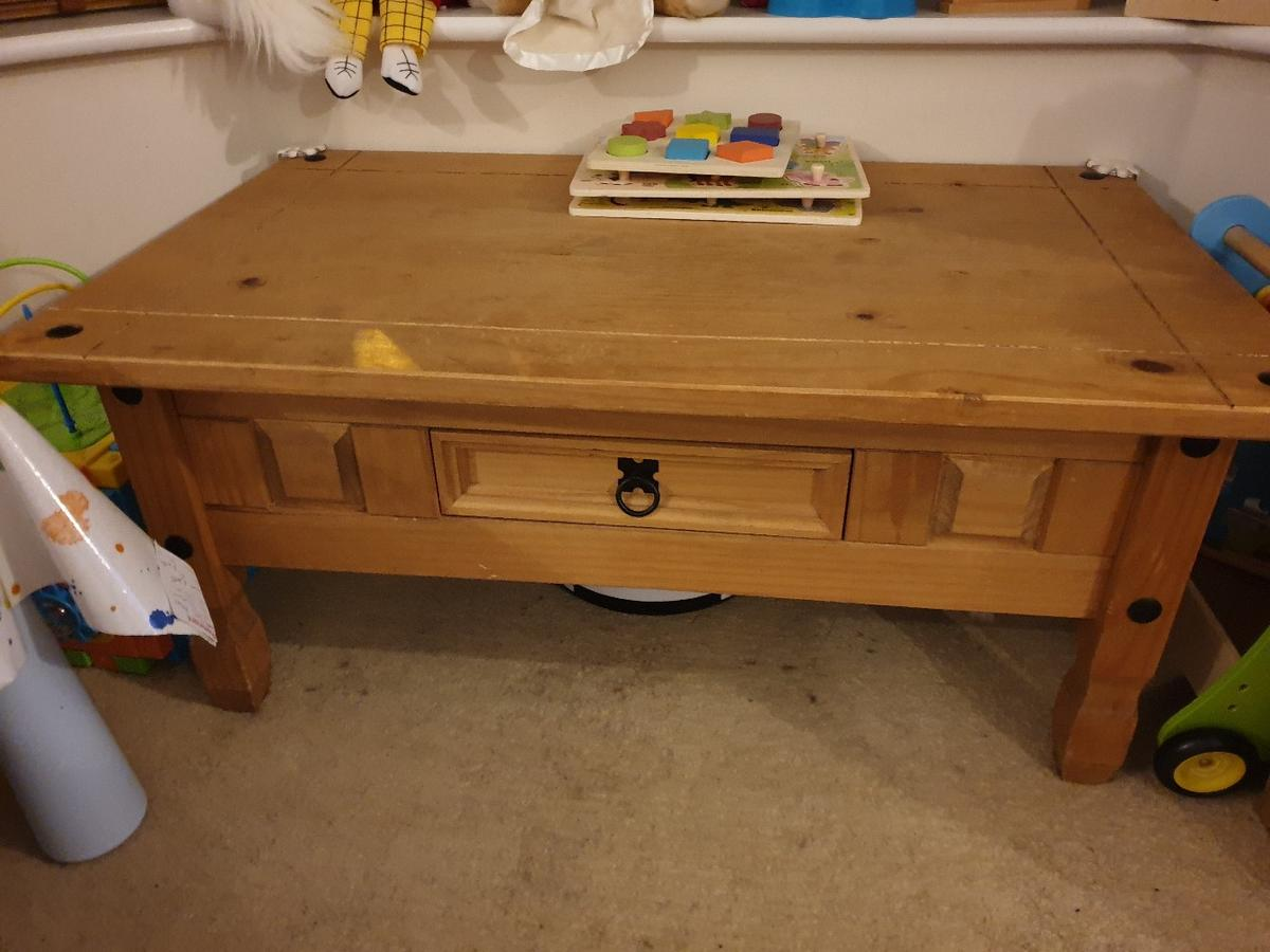 Collections Of Pine Coffee Table With Drawers