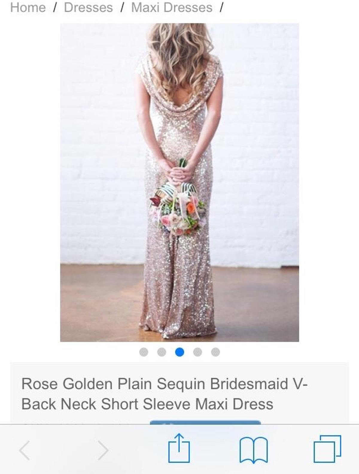 0776868b Rose gold sequin dress in London Borough of Bexley for £15.00 for ...