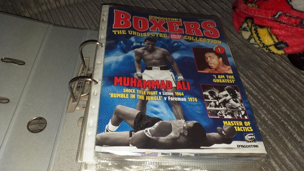 full set of 50 deagostini boxing DVDs and mag in CM2 Chelmsford for