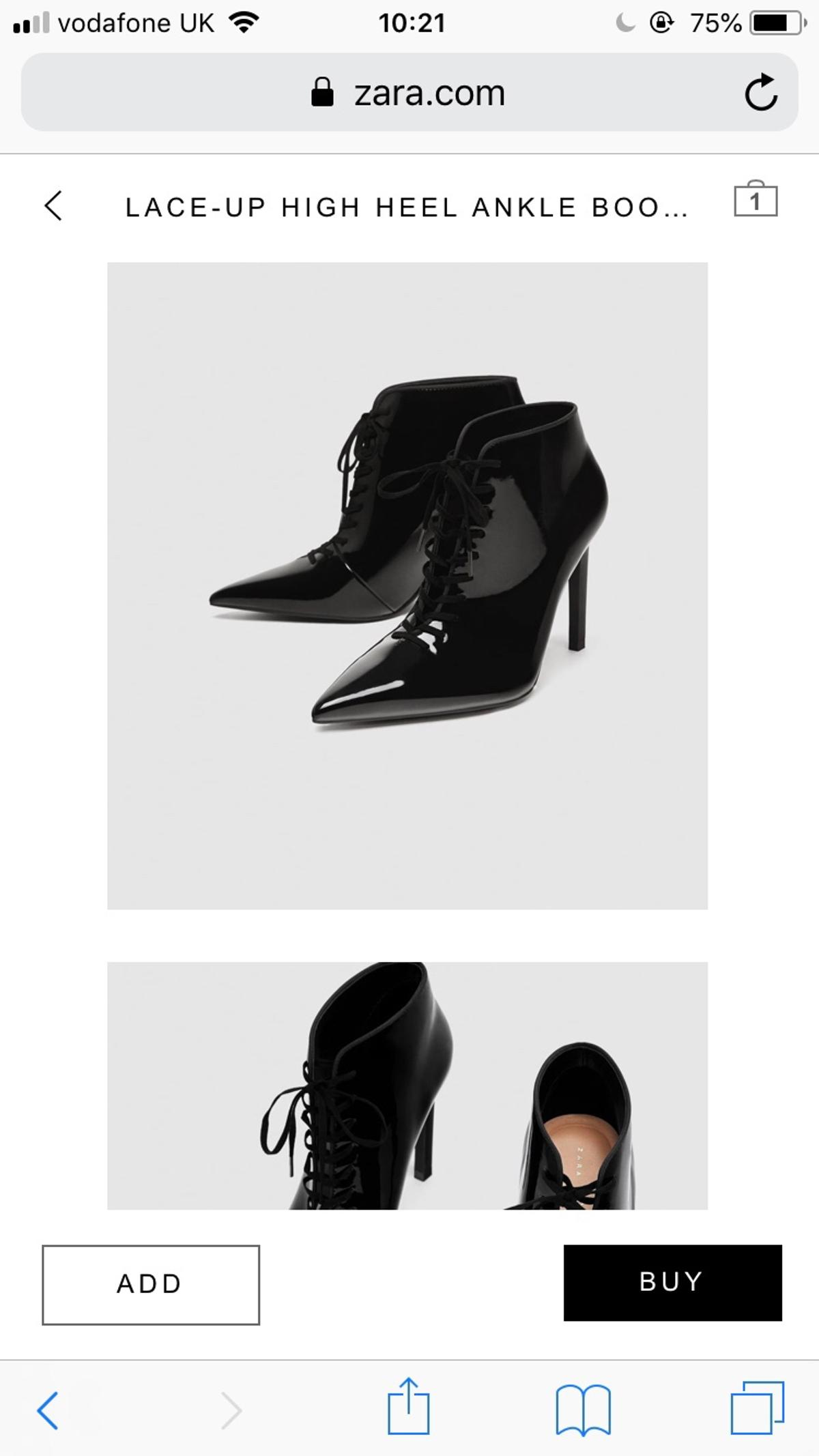 factory outlets look good shoes sale on wholesale Lace up ankle boot Zara (size 5) (euro 38) in LE13 Melton for ...