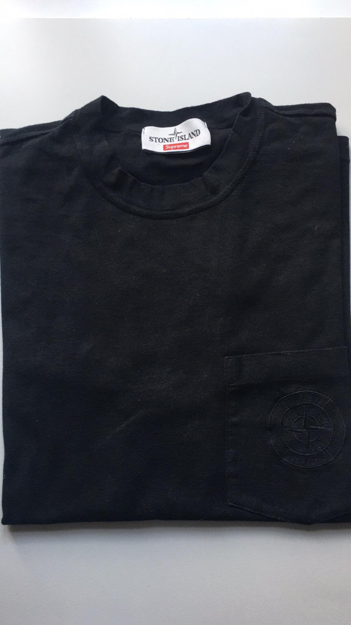 62aaf970 supreme x stone island black tee in 10122 Torino for €250.00 for ...