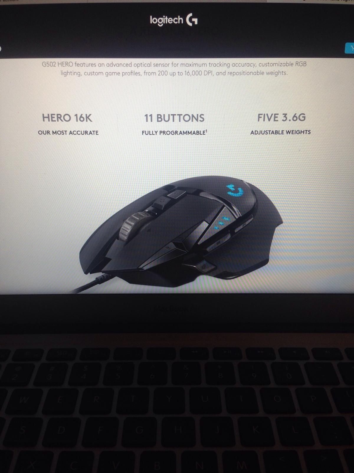 Logitech G502 hero in SW11 Wandsworth for £50 00 for sale