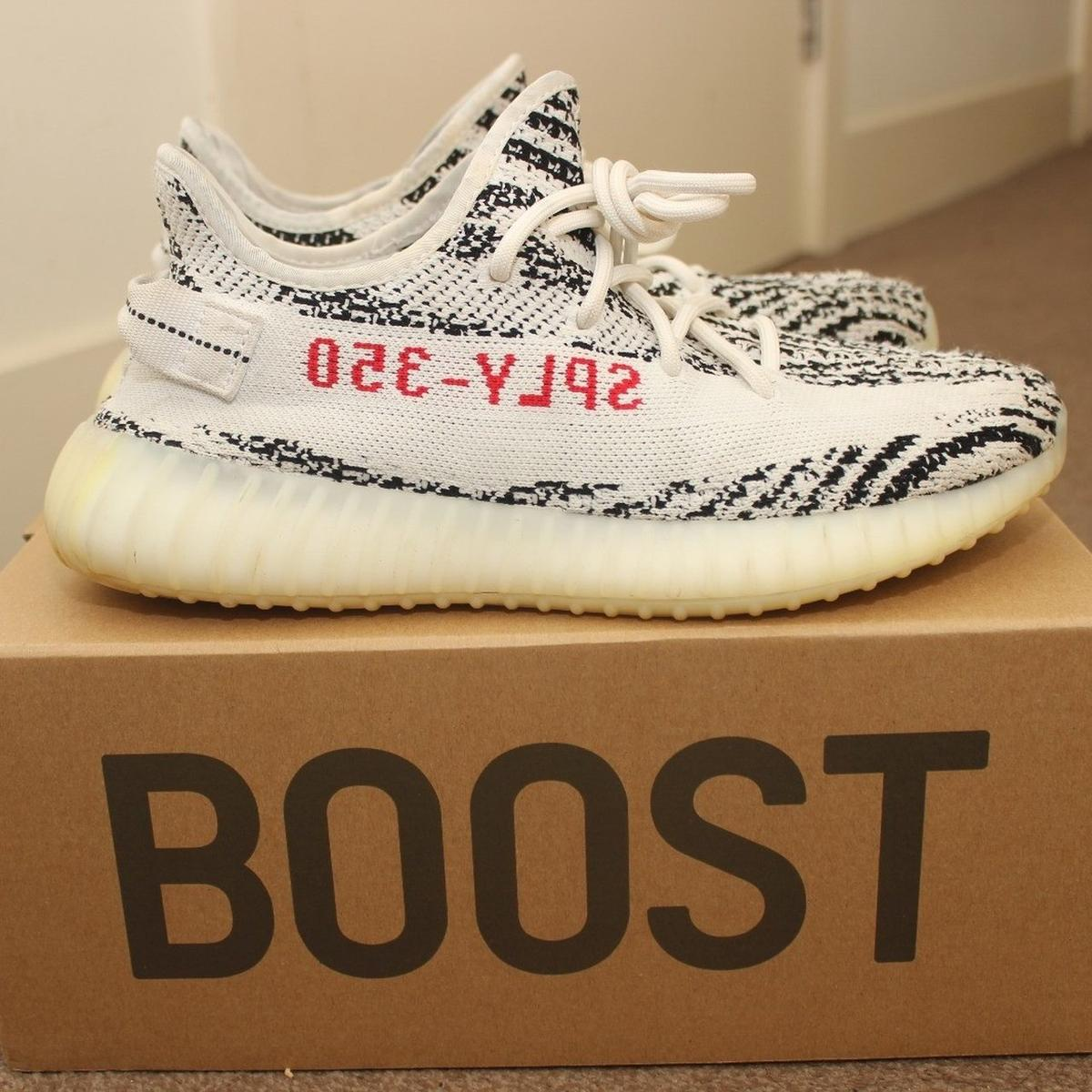 355c6a51d Yeezy 350 v2 Zebra UK 8 in E14 Hamlets for £210.00 for sale - Shpock