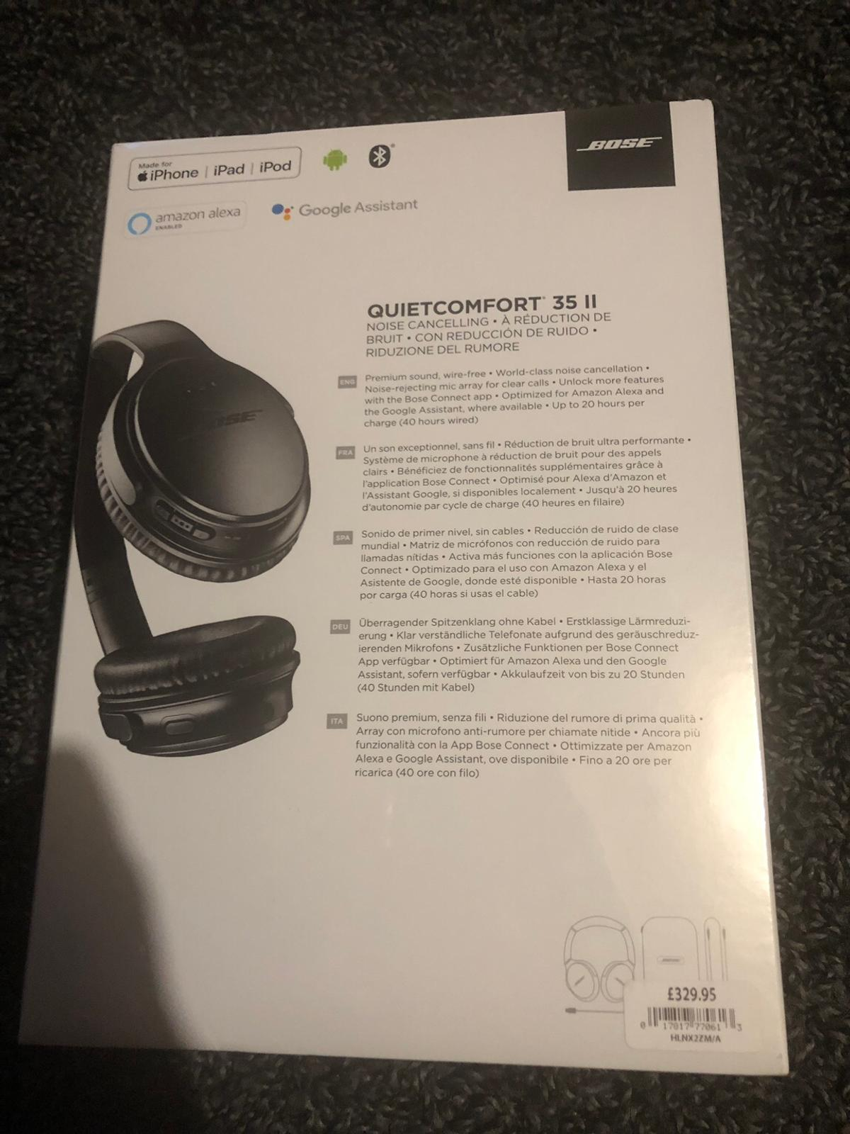 Bose QC 35 II Noise cancelling headphones NEW in E6 Newham