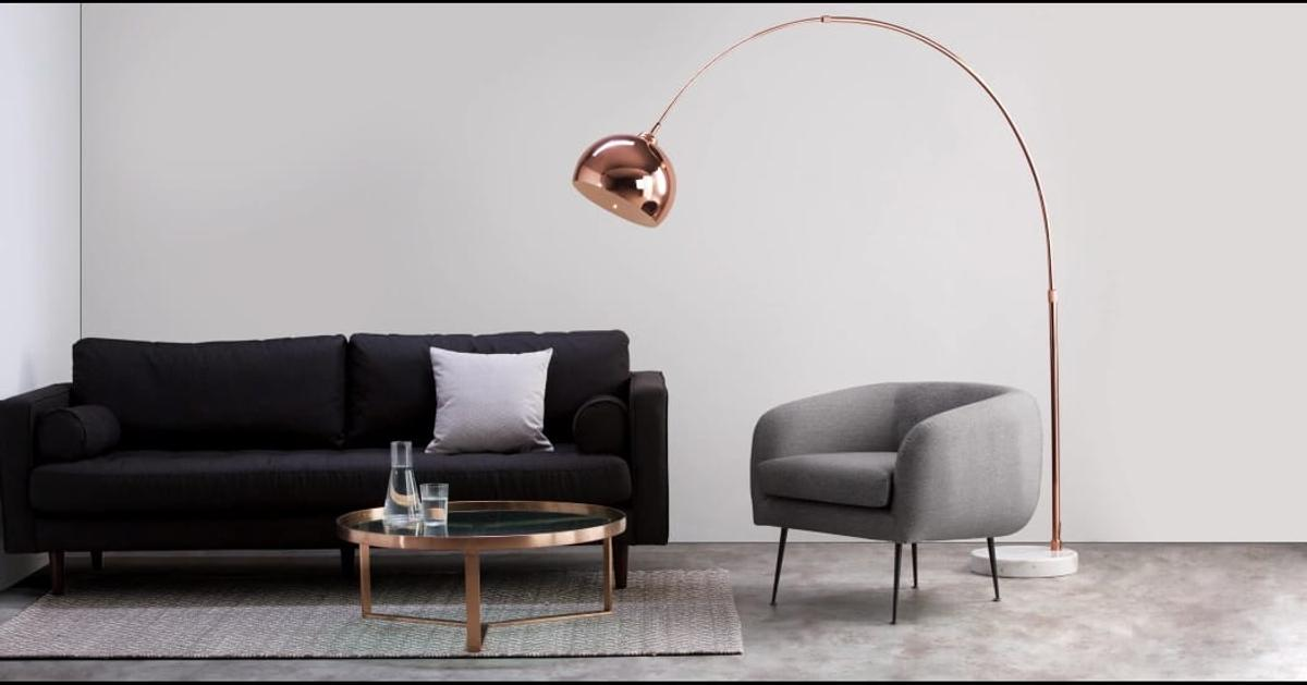 Bow Large Floor Lamp Copper In Ig1