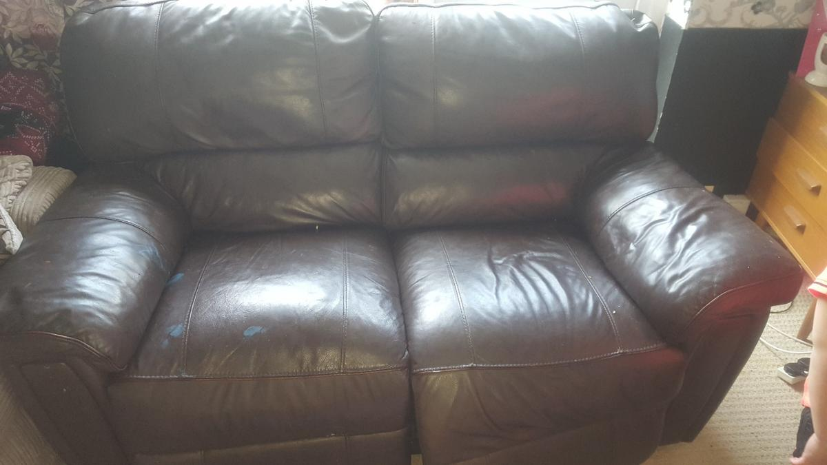Two Seater Recliner Sofa And Back