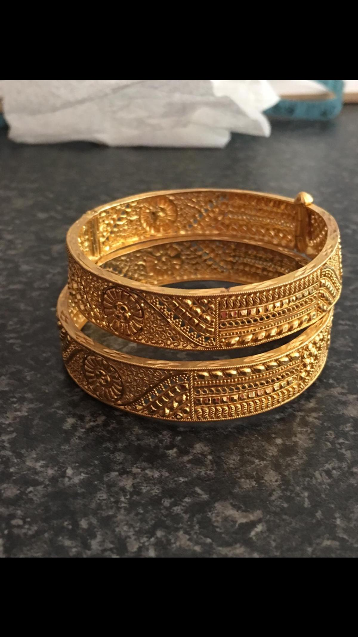 4291021eb91a1 22ct asian gold bangles 52.8g in RH11 Crawley for £2,200.00 for sale ...