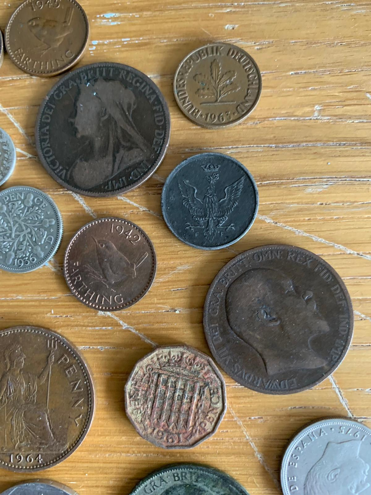 British Silver Florin 1936 Coloured Penny 3d in Doncaster