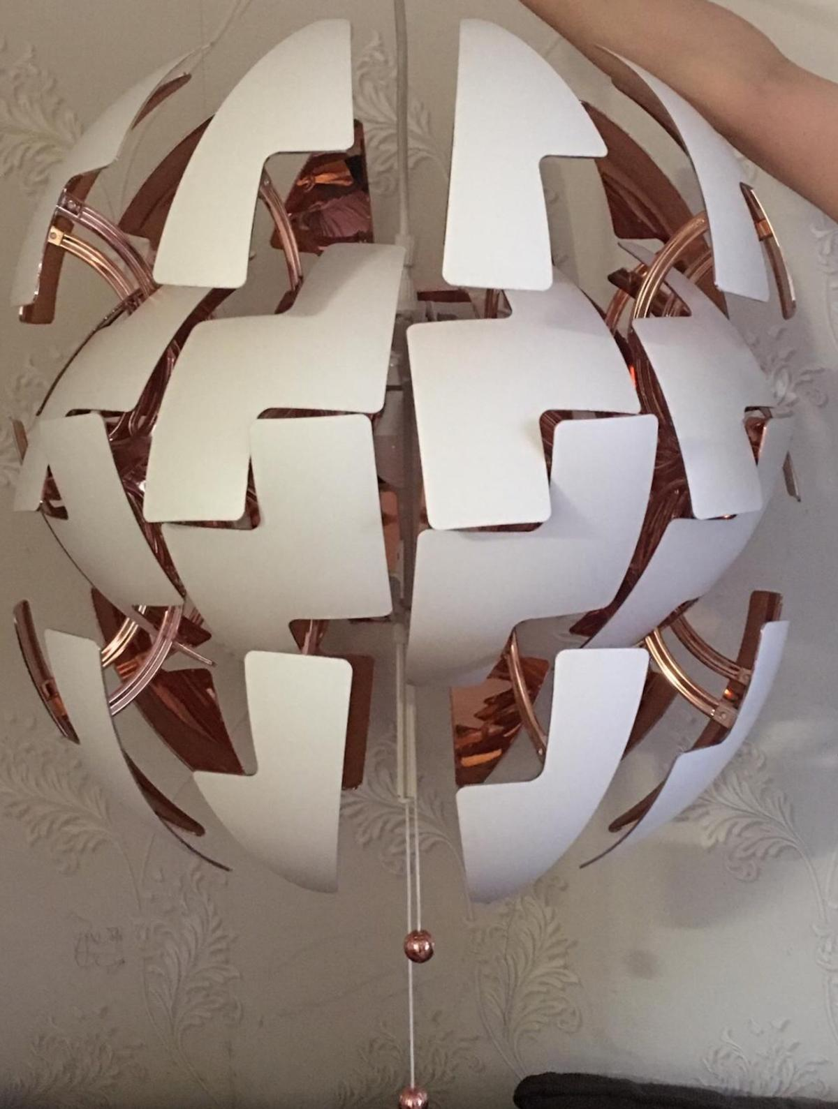Ikea Pendant Lamp White And Copper In B29 Birmingham For 40 00 For Sale Shpock