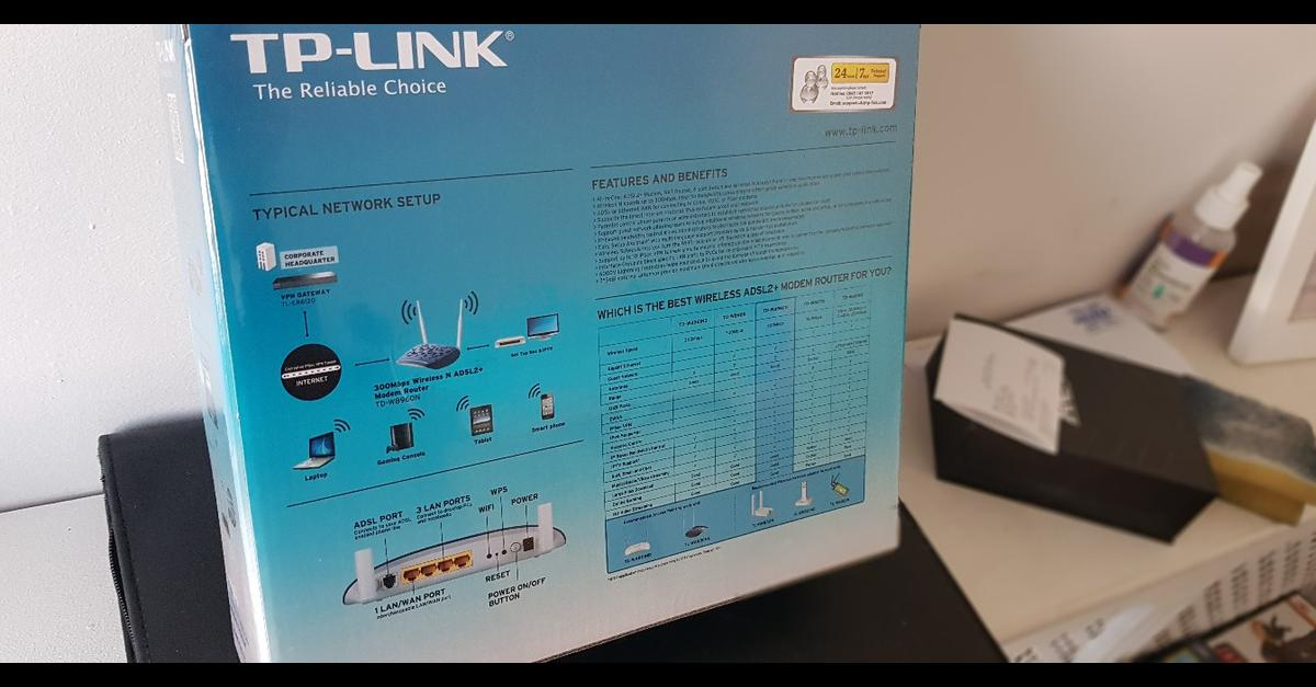 TP Link 300Mbps Wireless N ADSL2+ Router