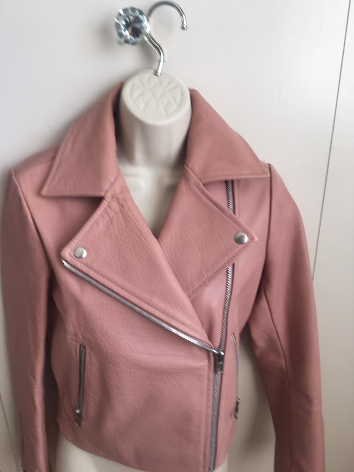 wholesale price special for shoe new authentic Ladies Topshop Pink faux leather biker jacket in London ...