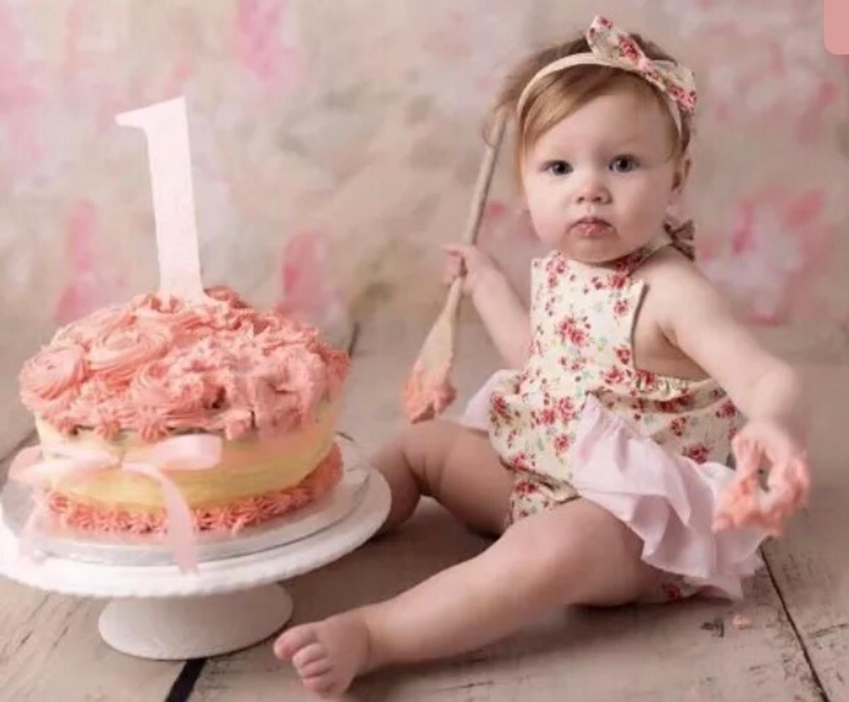 Cool Baby Girls 1St Birthday Cake Smash Outfit In Sk13 Peak For 10 00 Funny Birthday Cards Online Hendilapandamsfinfo