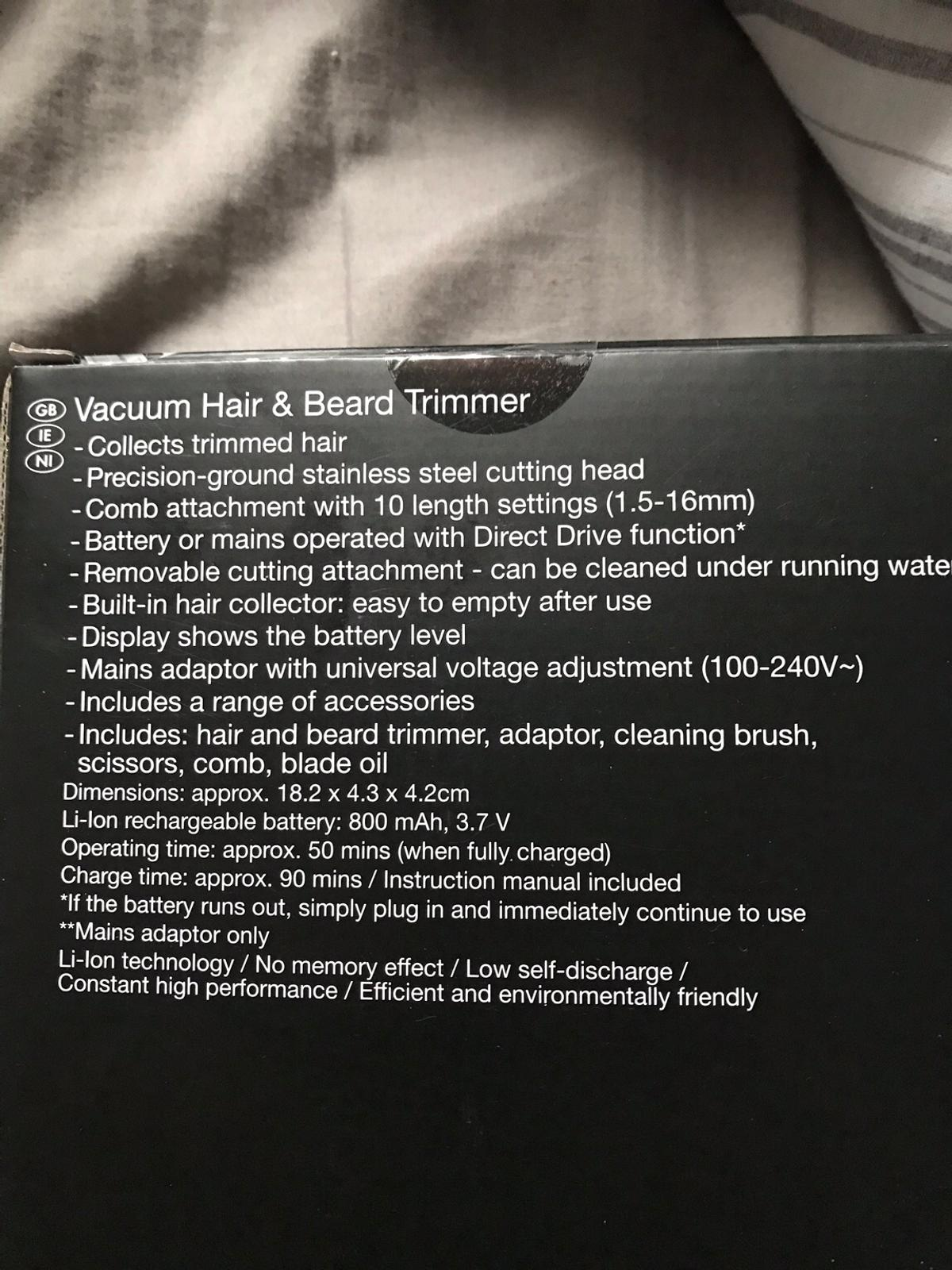 Vacuum hair and beard trimmer new in box in NE13 North