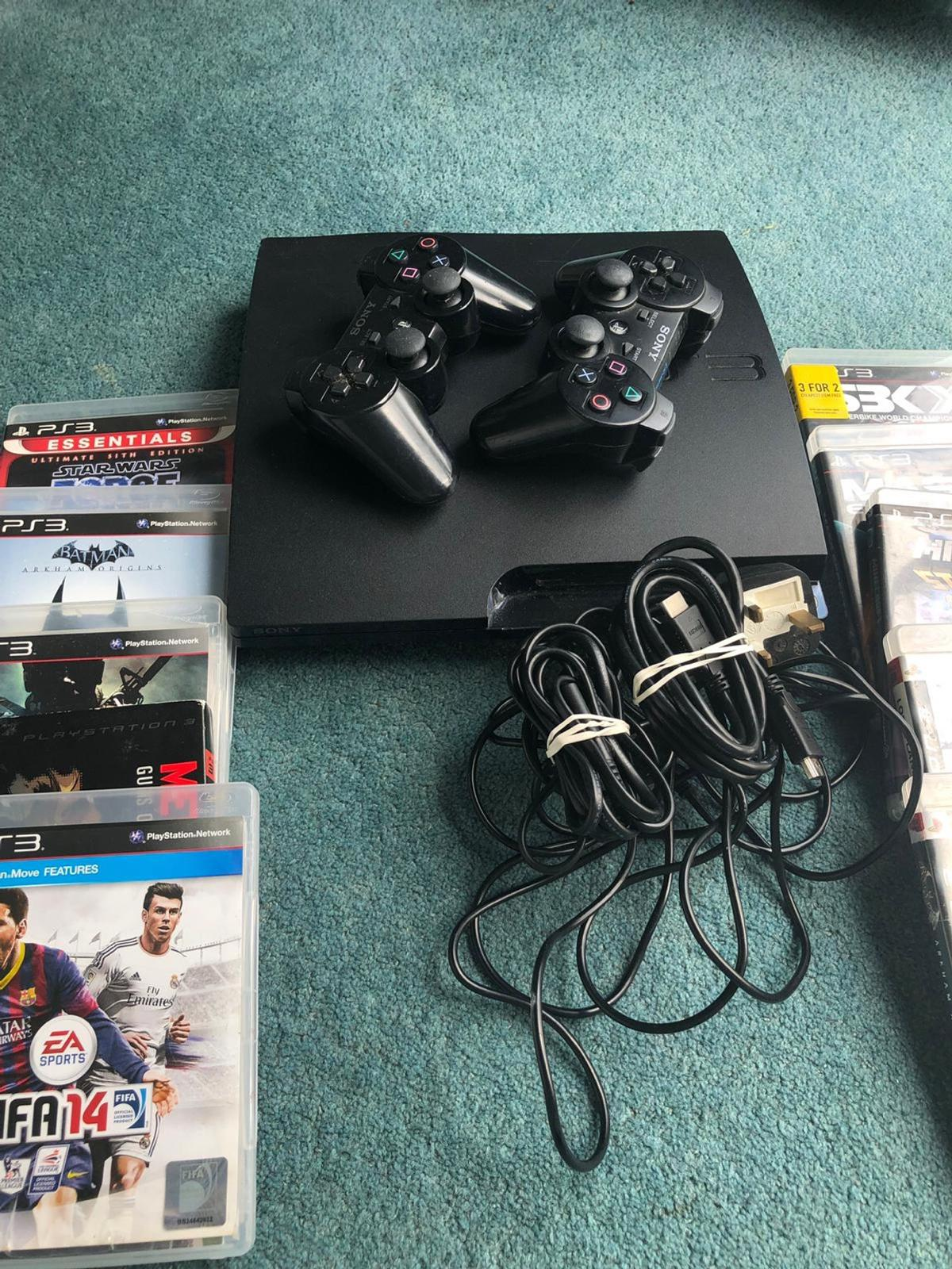 Ps3 console and games in KT3 Thames for £100 00 for sale