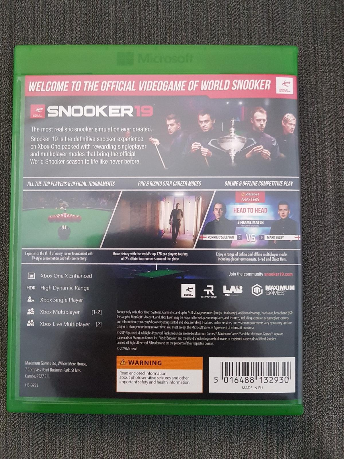 Snooker 19 Xbox One brand new