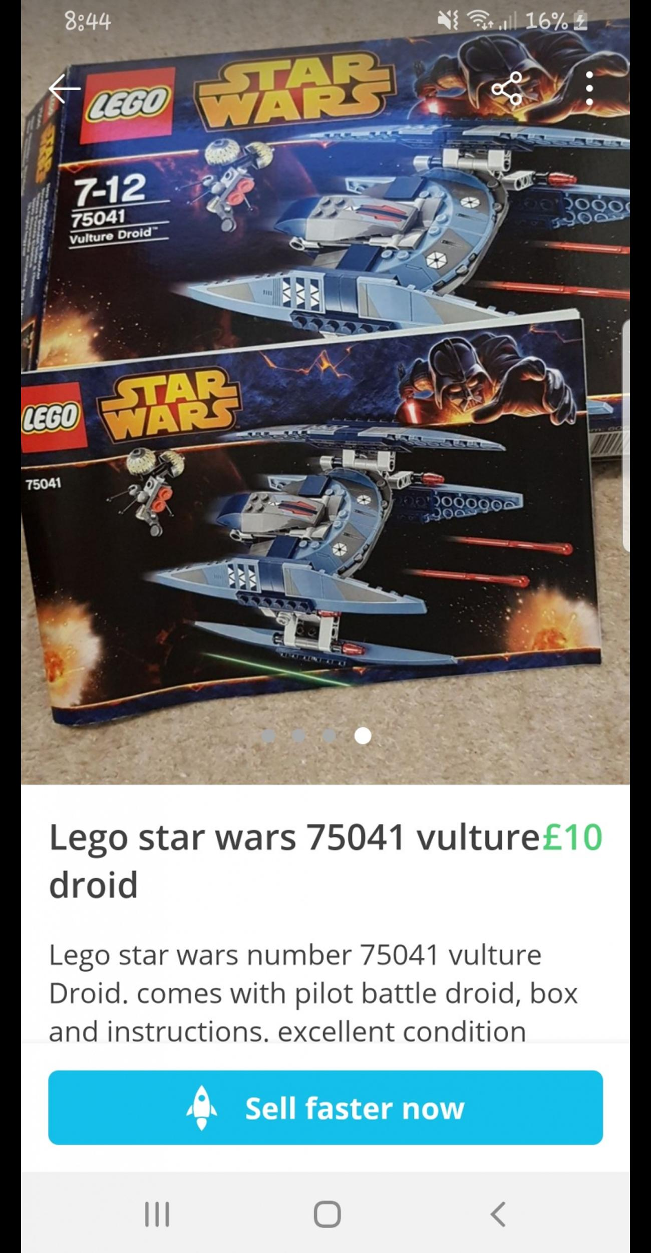 star wars Lego vulture droid in S44 Bolsover for £10 00 for sale