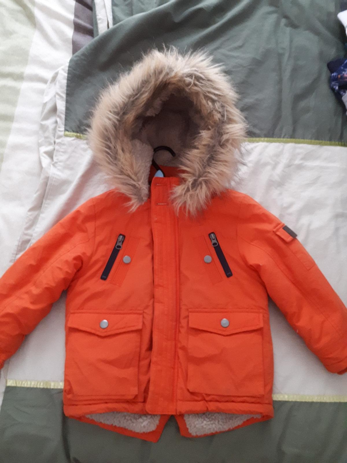 low cost 100% authenticated shop Boys padded Parker winter coat age 4-5 years in L5 Liverpool ...