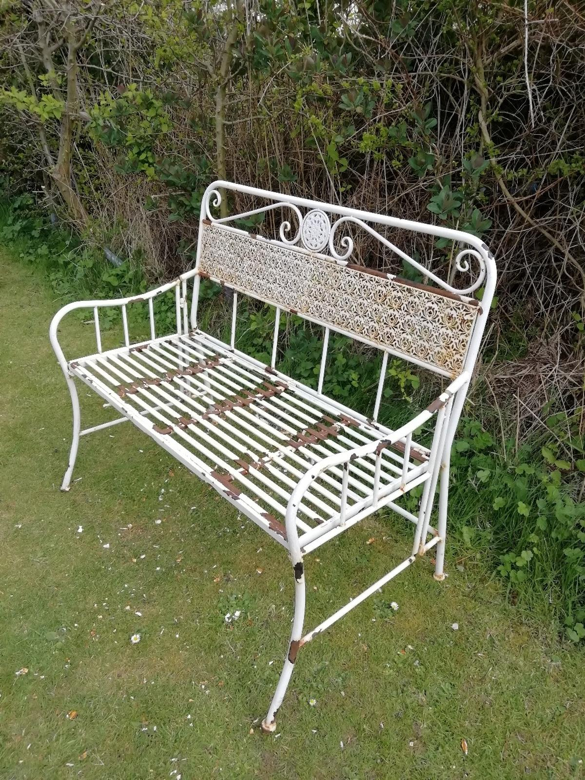 Folding Metal Garden Bench In East Lindsey For £20.00 For ...