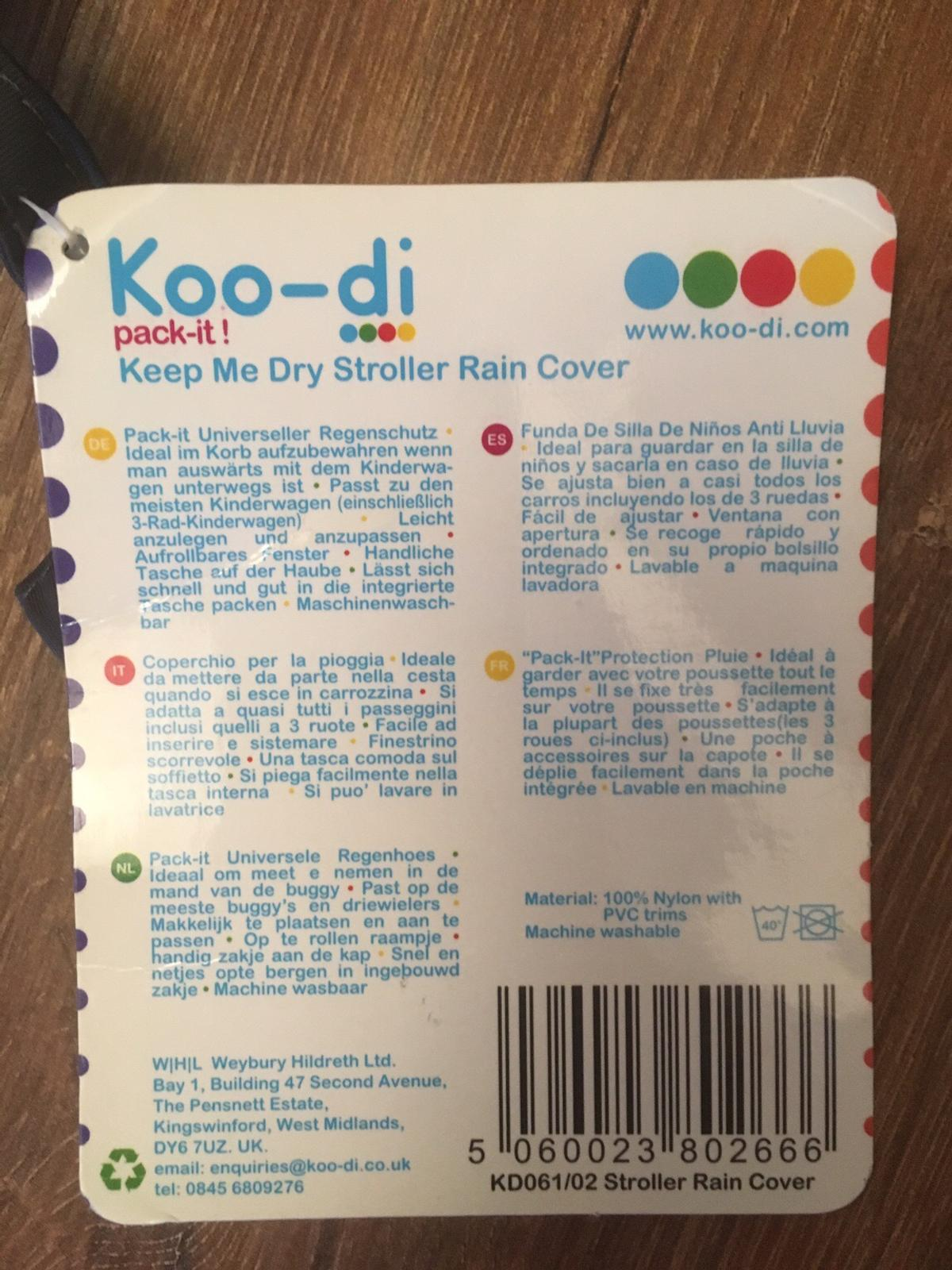 Koo-Di KD061 Pack-It Universeller Regenschutz