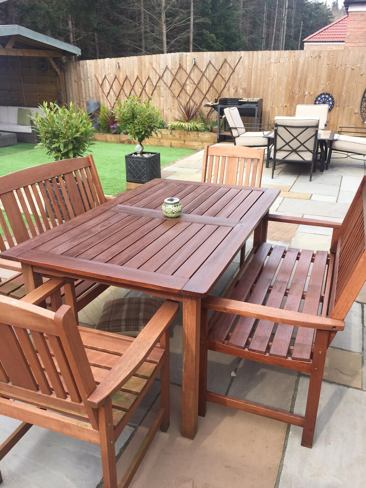 Outdoor Garden Table And Chairs Wooden