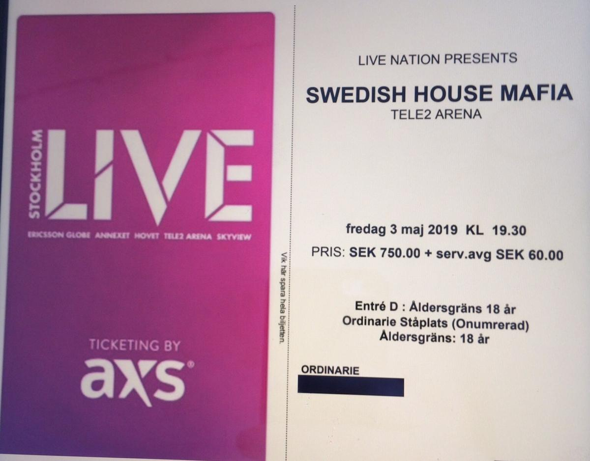 swedish house mafia vip biljetter