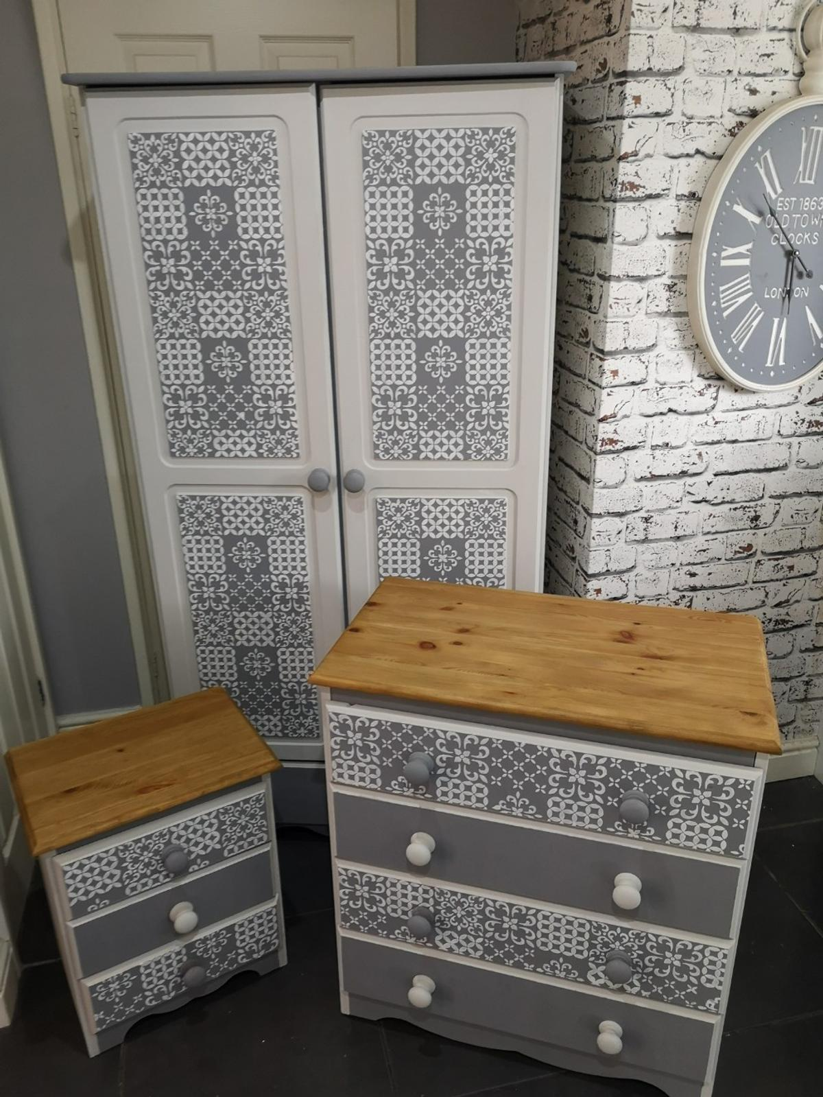 Bedroom Furniture Set Hand Painted Upcycled In L20 Sefton For