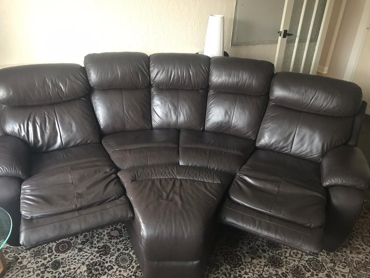 Dfs 5 Seat Leather Recliner Sofa In Pr1