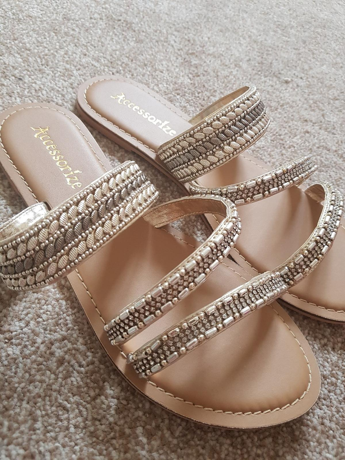 Accessorize Bd14 00 6 In Gold Bradford For Brand New £12 Sandals 9IeEH2WYbD