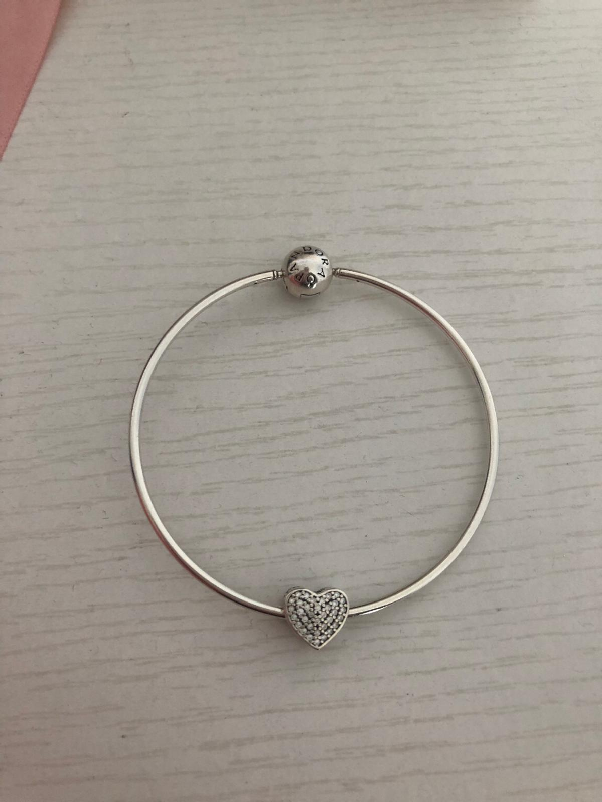 Pandora essence bangle with charm 18cm in Colchester for £39 00 for