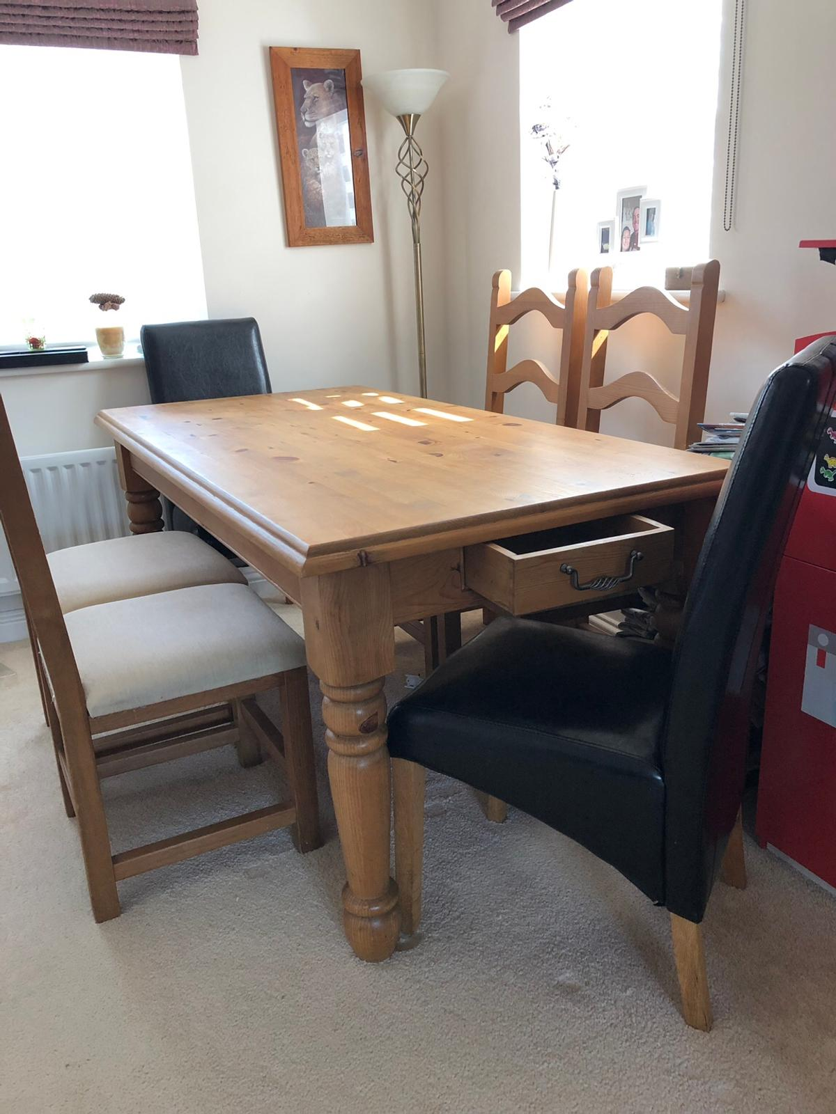 Oak Dining Table With 6 Chairs