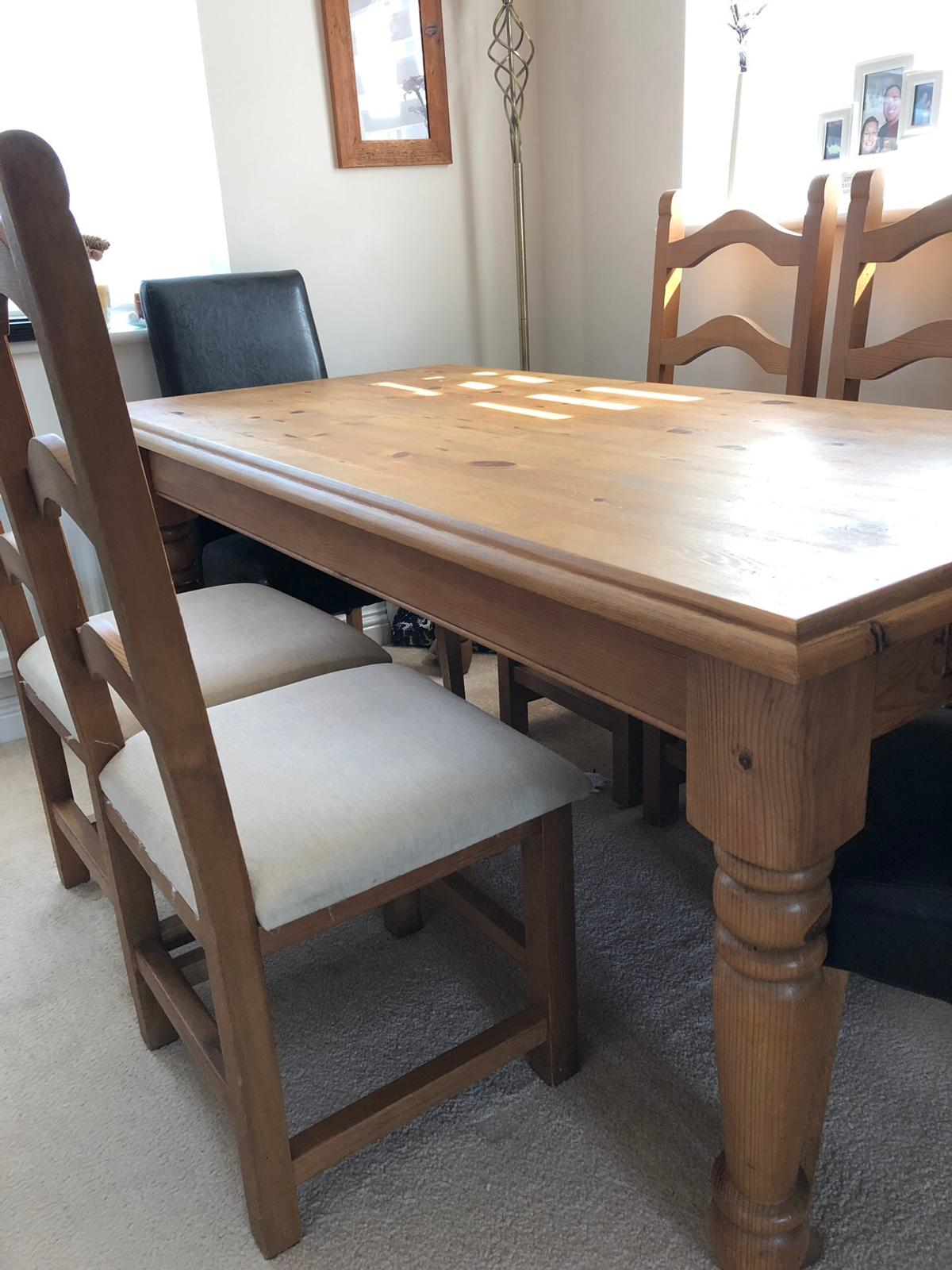 Brilliant Oak Dining Table With 6 Chairs Download Free Architecture Designs Intelgarnamadebymaigaardcom