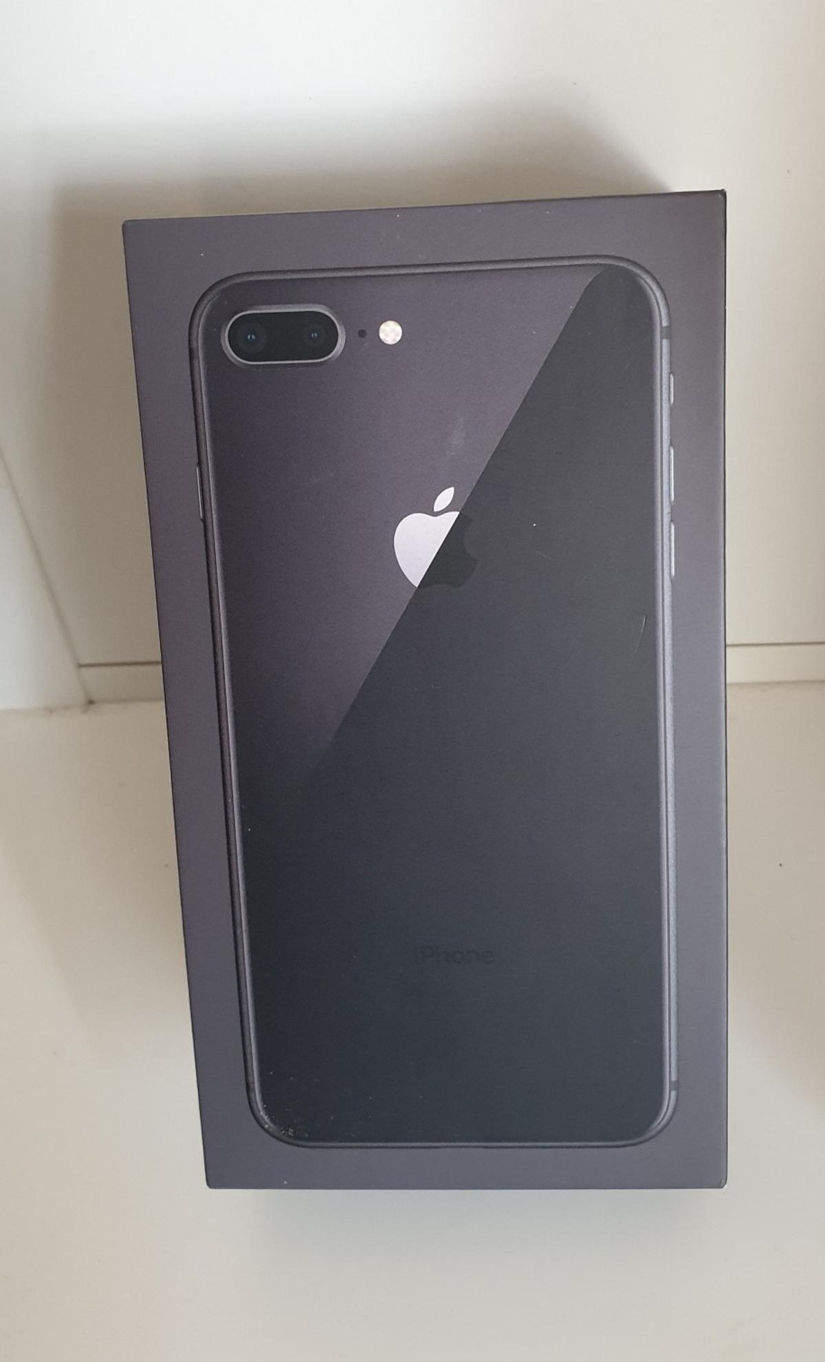 Empty Apple iPhone 8 Plus box, Space Grey 256