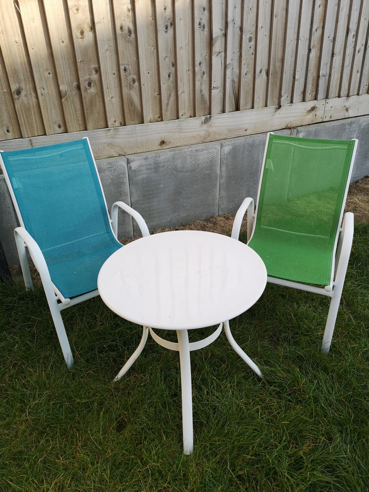 Kids Garden Table And Two Chairs In Orton Waterville Fur 12 00
