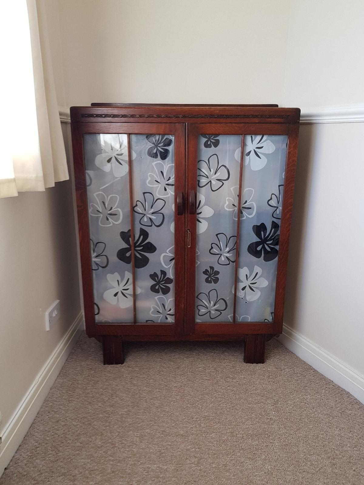 Wooden Bookcase With Glass Doors Vintage In Ls28 Leeds For