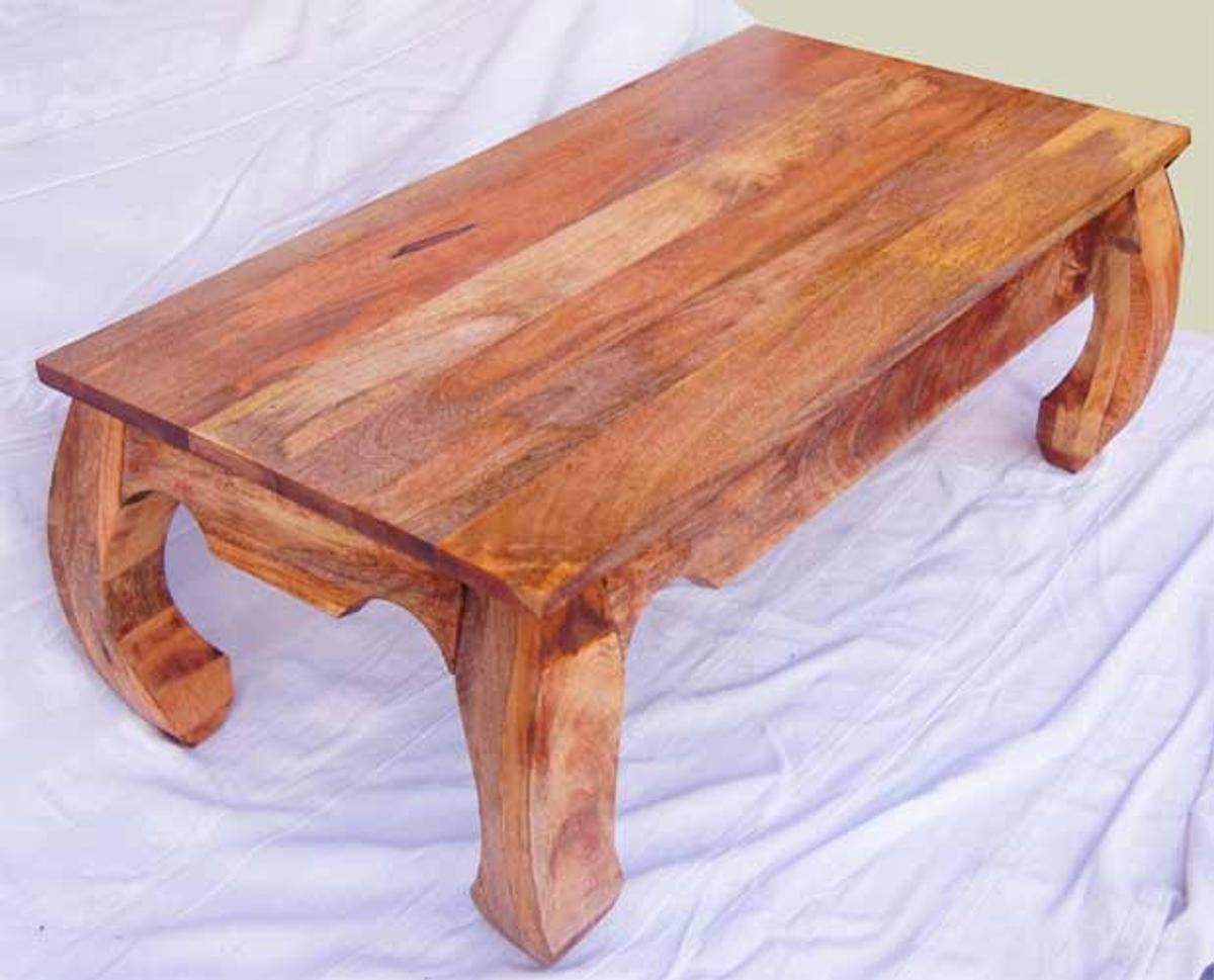 Natural Wood Coffee Table.Solid Wood Opium Coffee Table 90 60 45cm