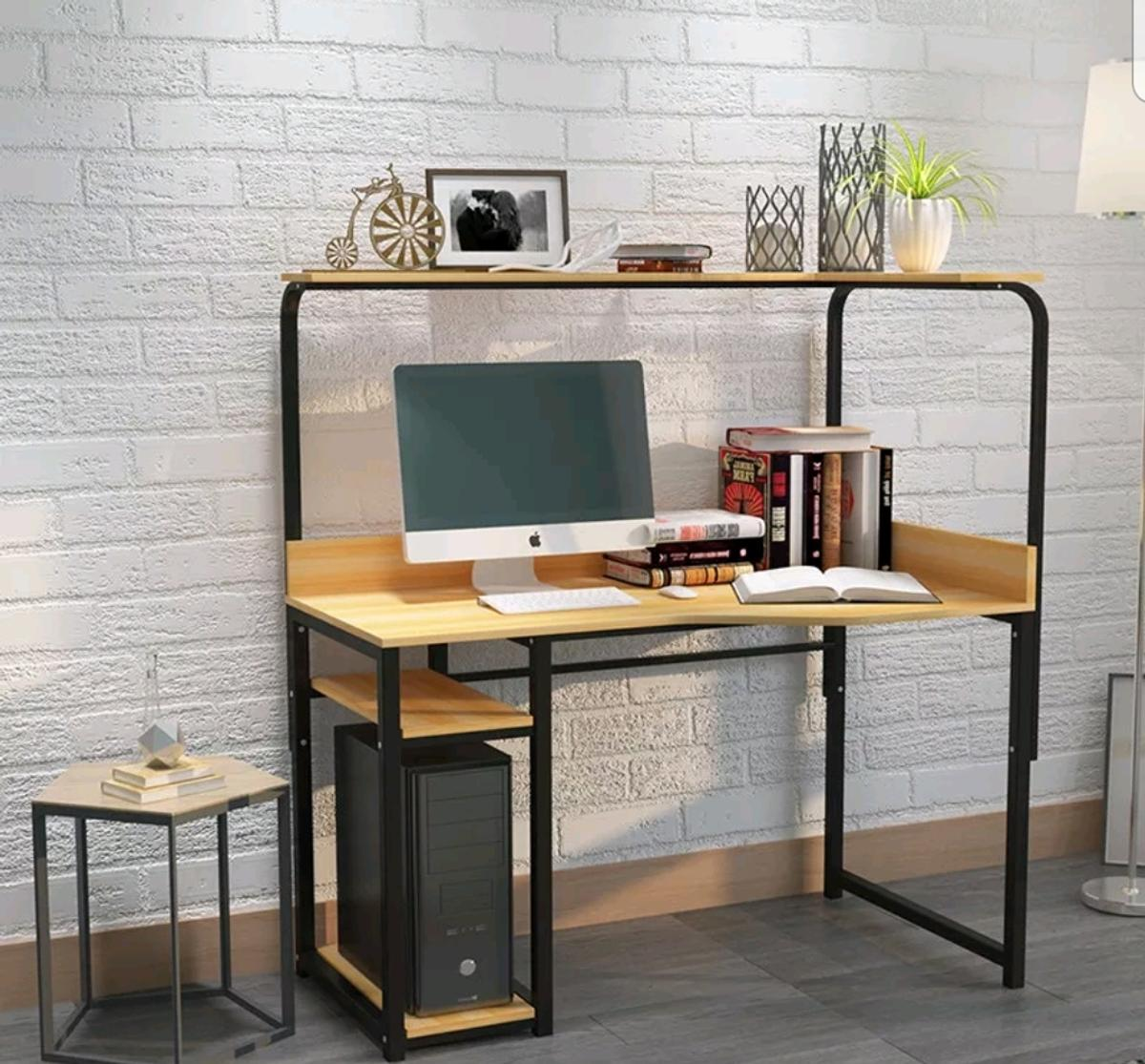 Swell Office Computer Study Desk With Bookshelves In Dy2 Dudley Interior Design Ideas Inesswwsoteloinfo