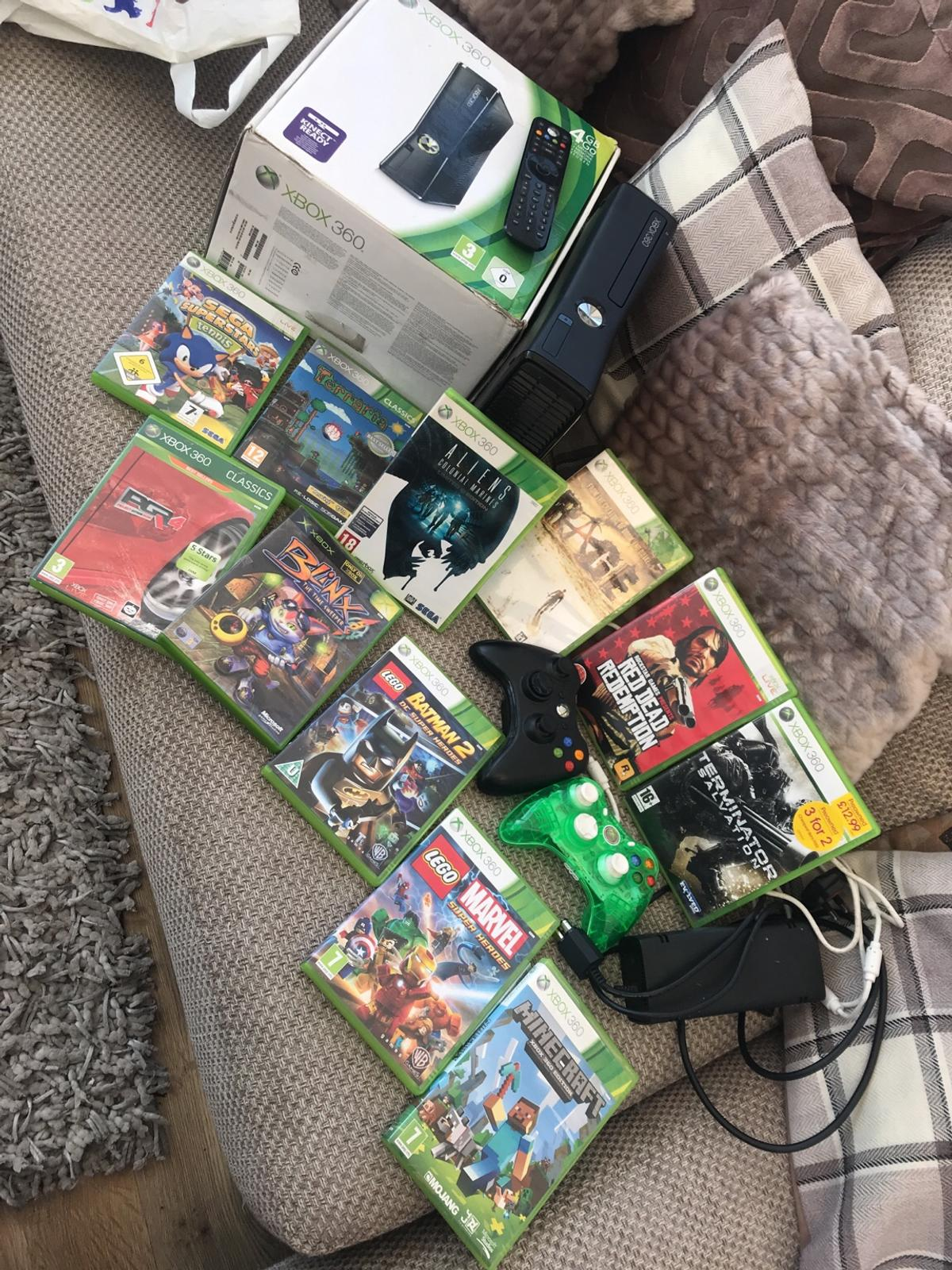 Xbox 360 Bundle - 4gb verdin and 11 games etc in LE67 Leicestershire