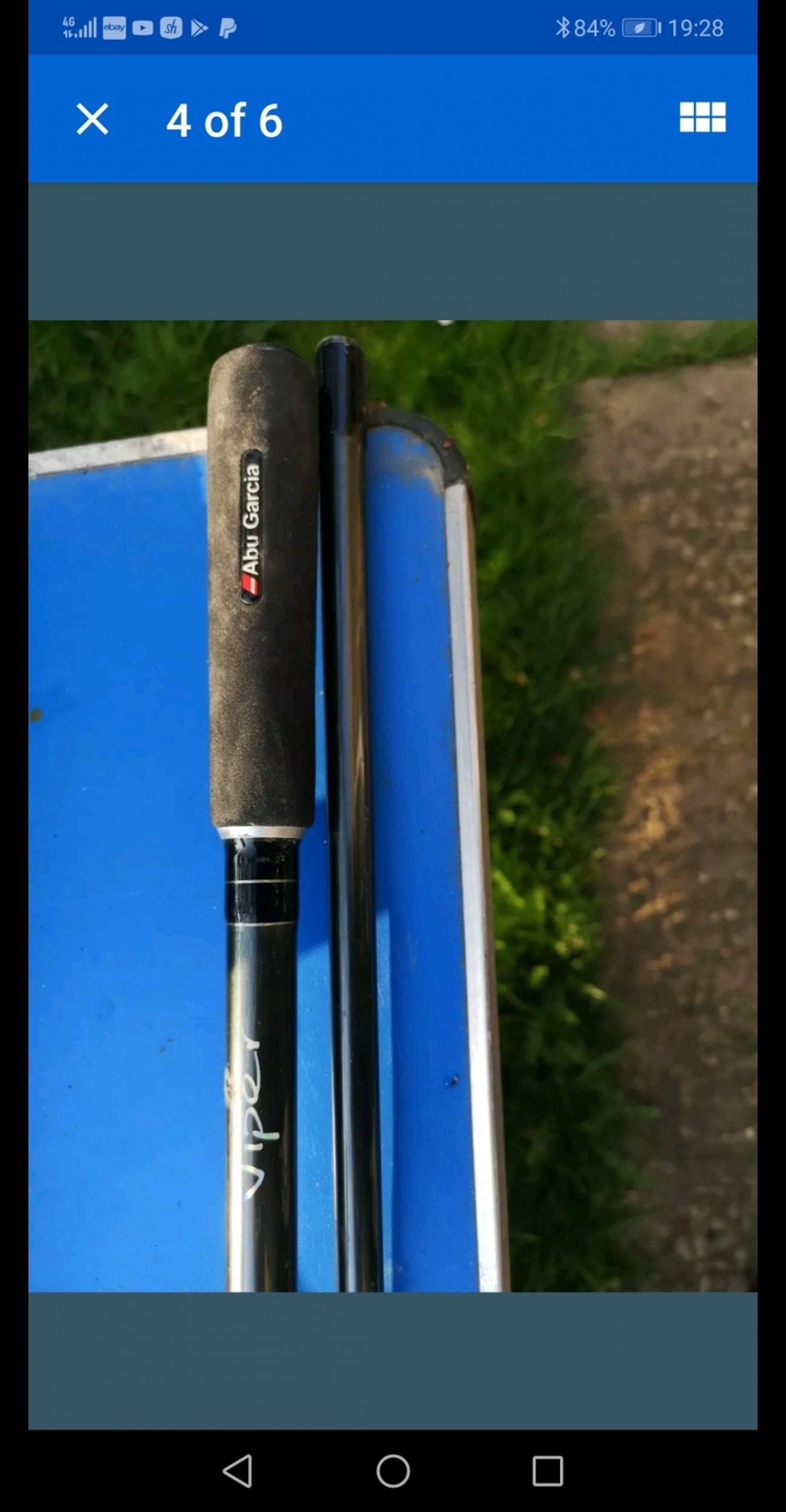2 x Abu Garcia Viper 12ft 2 Piece Carp Rods. in ME16