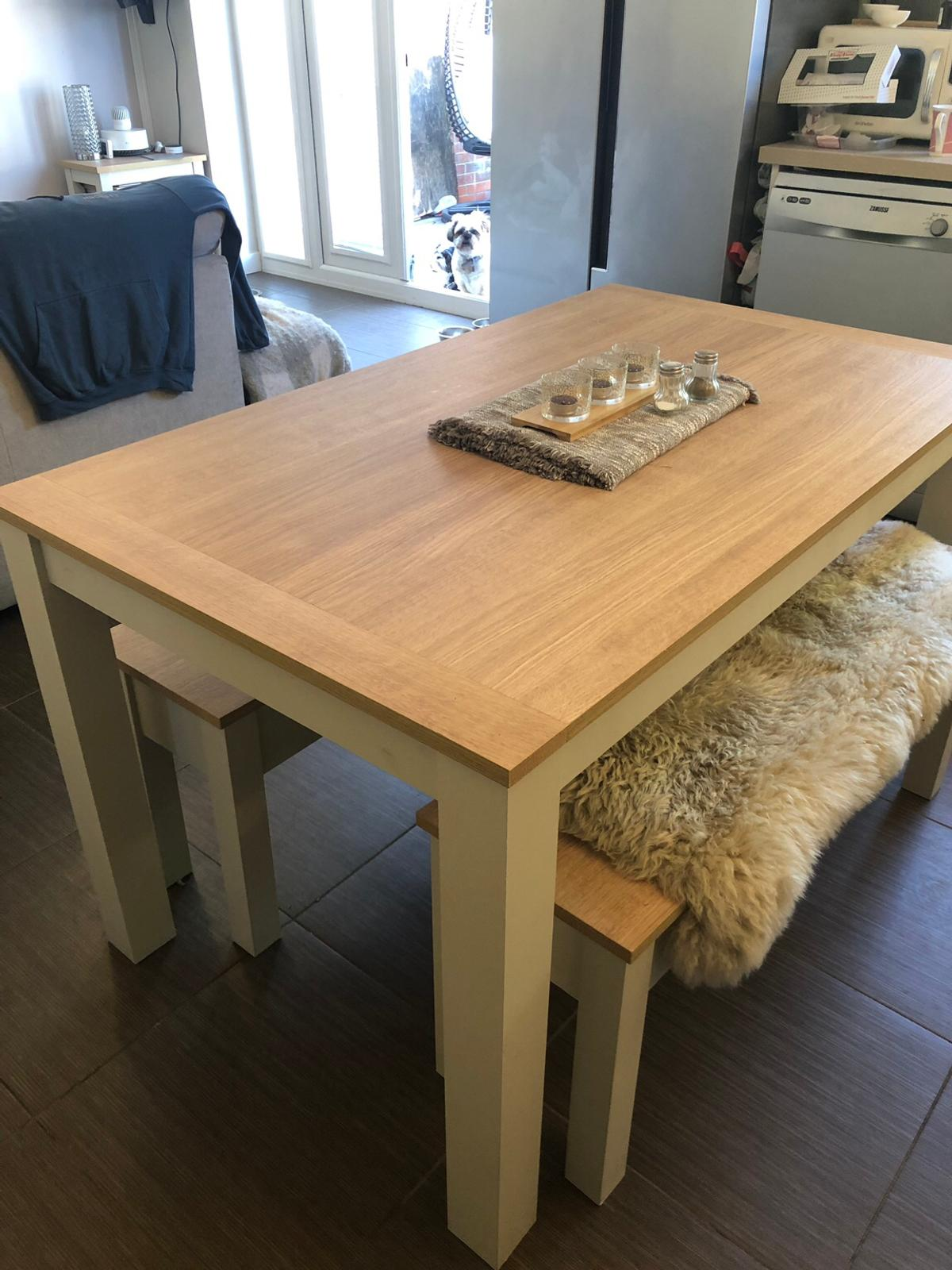 Super Next Malvern Dining Table With Benches Cream Lamtechconsult Wood Chair Design Ideas Lamtechconsultcom