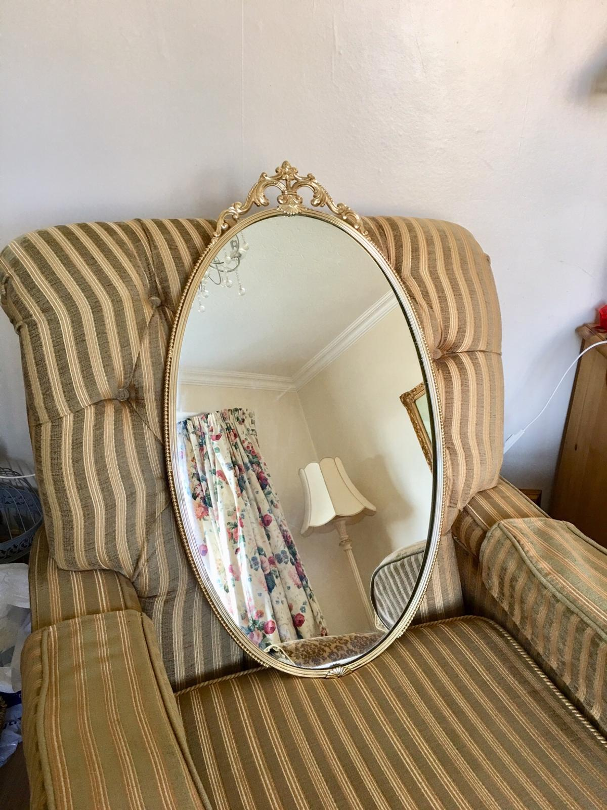 Large Oval Gold Ornate Mirror In La4 Lancaster For 15 00 For Sale Shpock