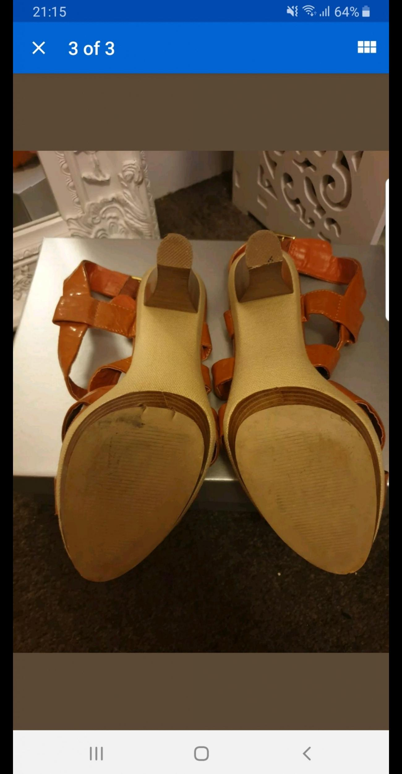 fc598217e7bf9 Orange strappy sandals in Rotherham for £6.50 for sale - Shpock