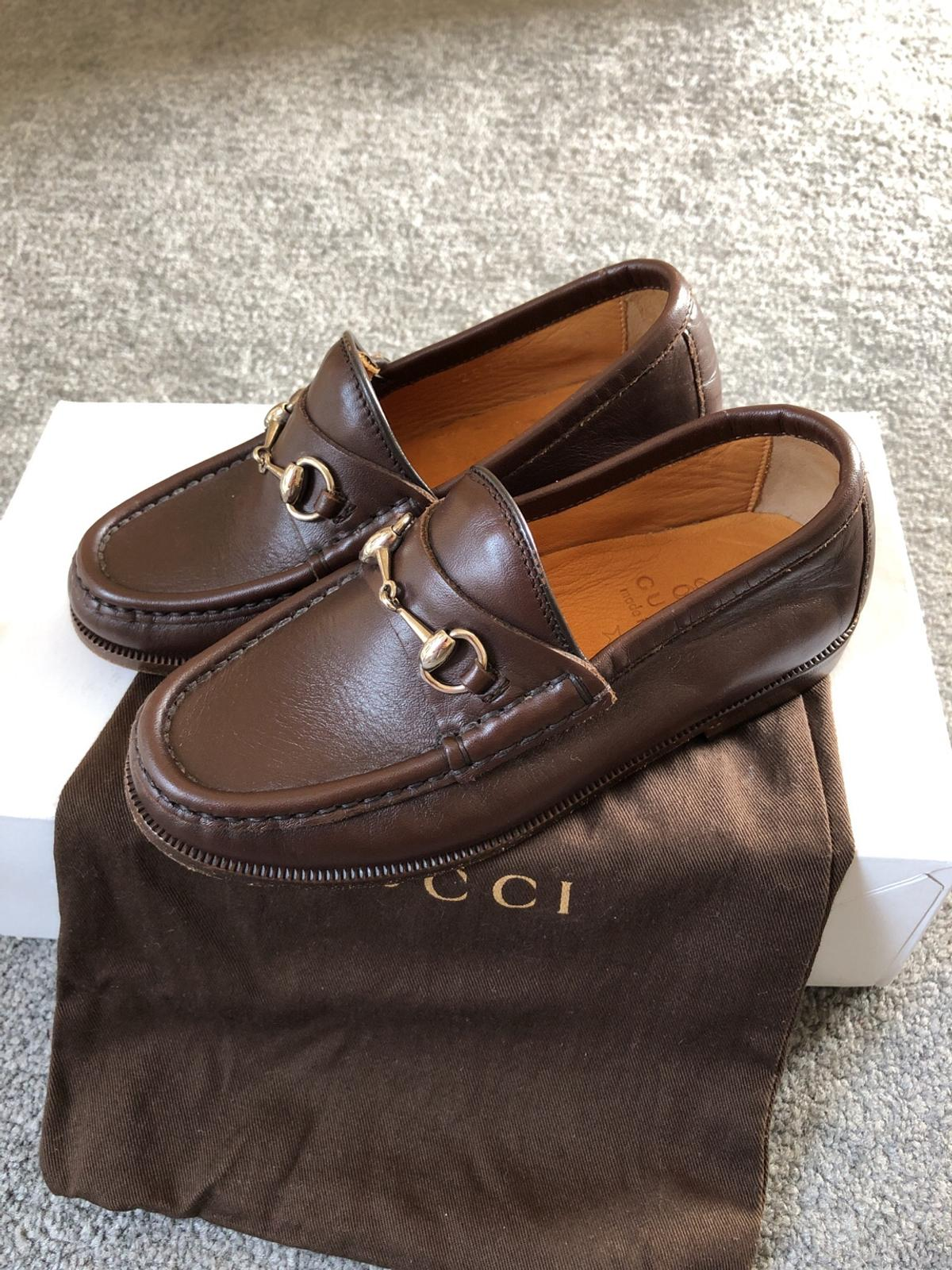 cdbd7926822 Description. New size 30 brown Gucci loafers never worn. £100 .