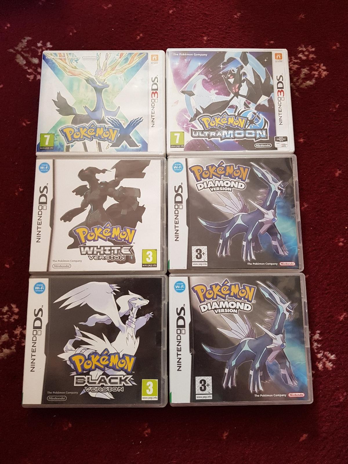 Pokemon Games Nintendo DS and 3DS