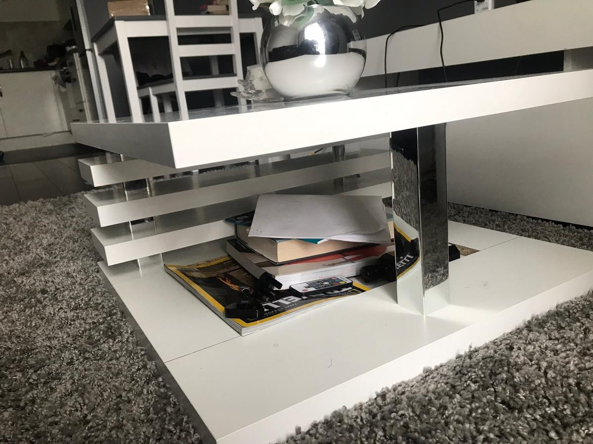 White Lola Coffee Table With Storage In Da17 London For 50 00 For Sale Shpock