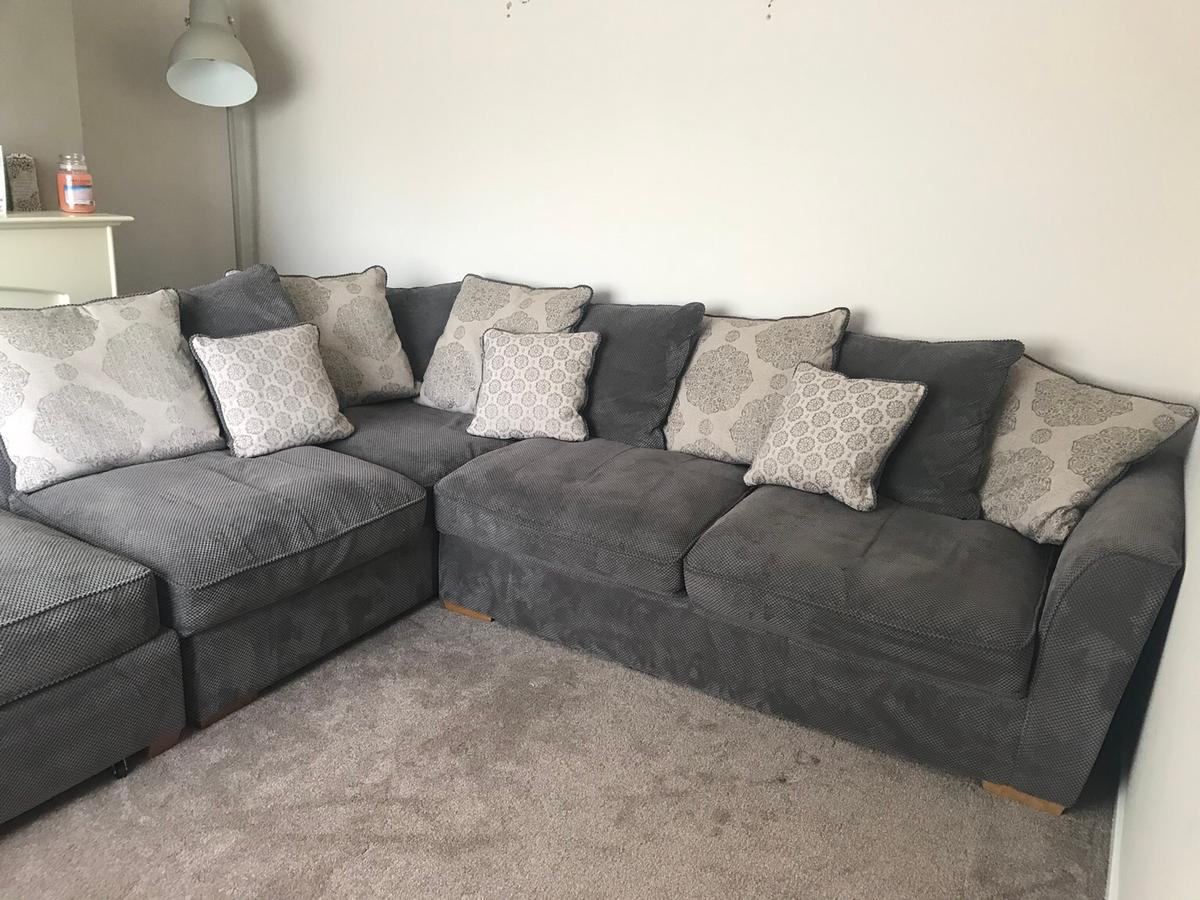 Charcoal Grey Corner Sofa Right Hand In Dudley For 300 00 For Sale Shpock