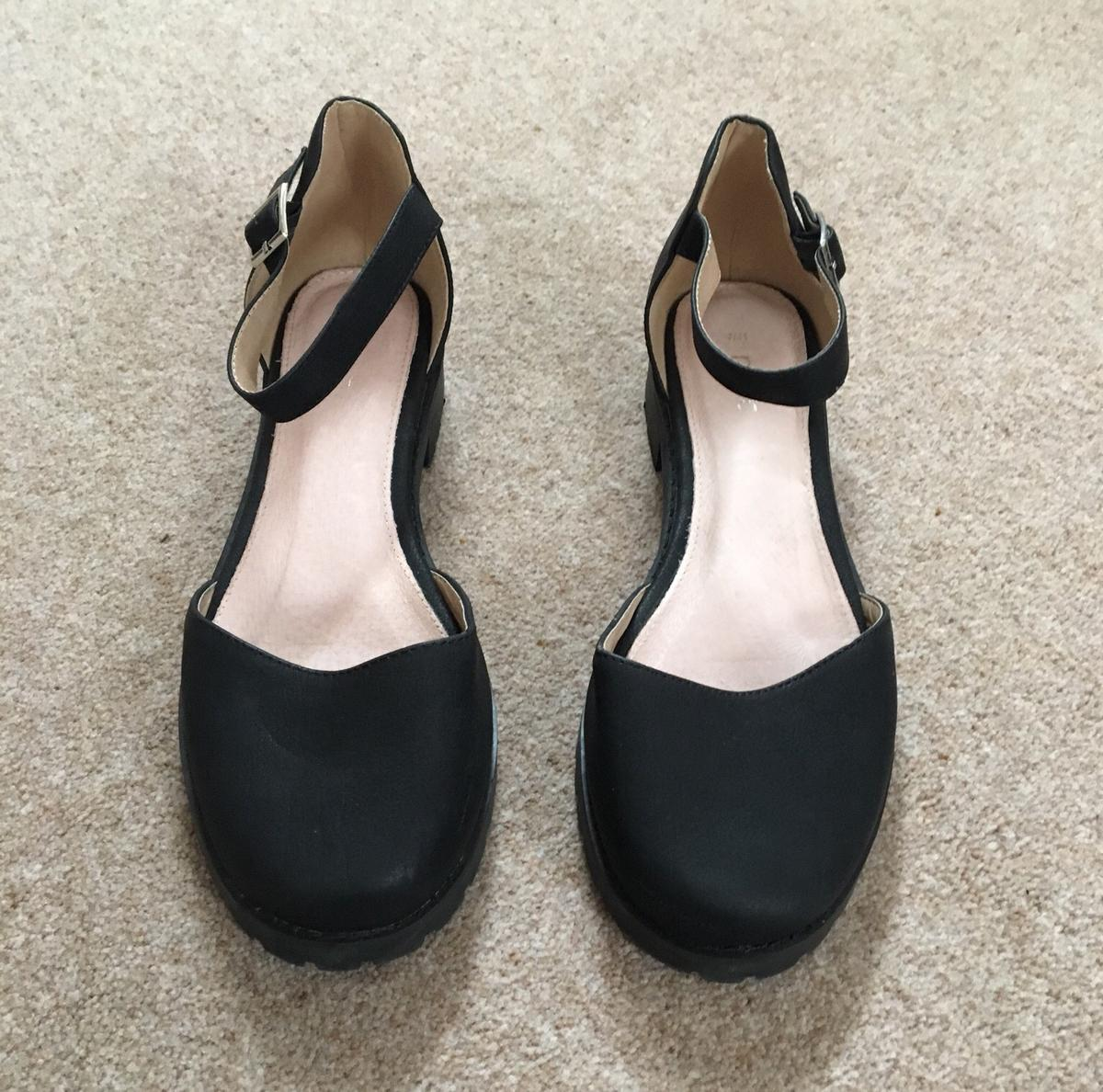 11c2e0100f Ladies black ankle strap shoes Size 7 in East Northamptonshire for ...