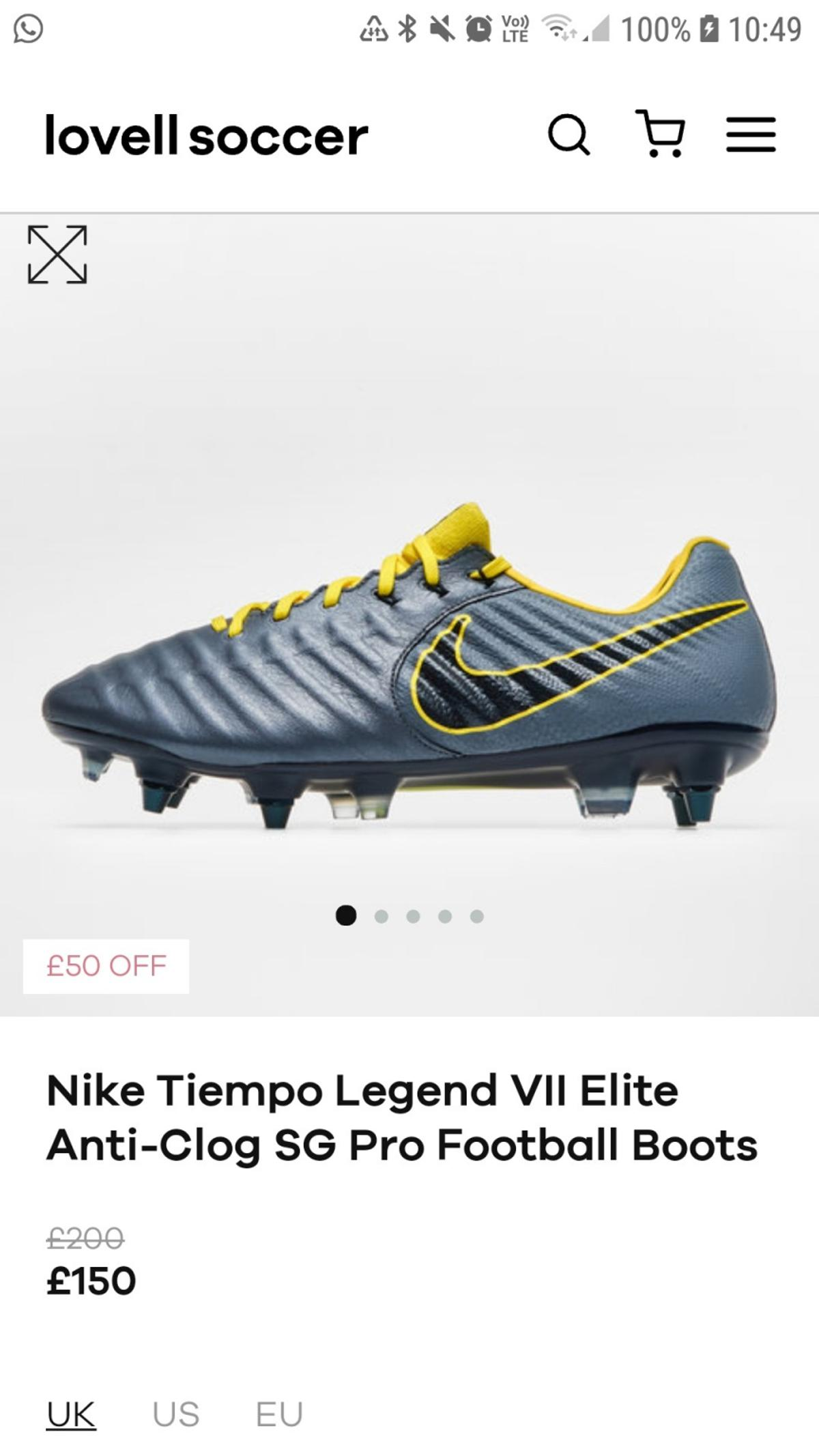049b60315498 nike football boots in for £110.00 for sale - Shpock