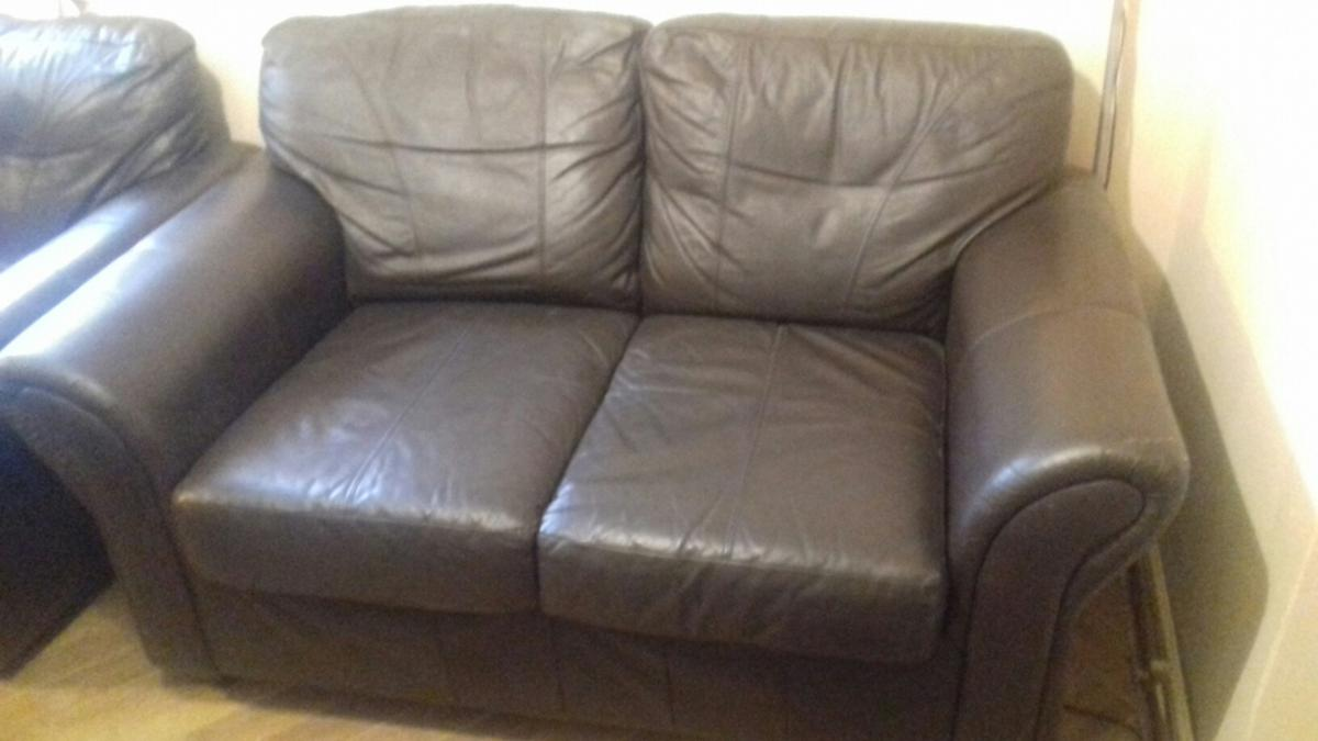 Surprising Two 2 Seater Dark Brown Leather Sofas In N8 Haringey For Onthecornerstone Fun Painted Chair Ideas Images Onthecornerstoneorg