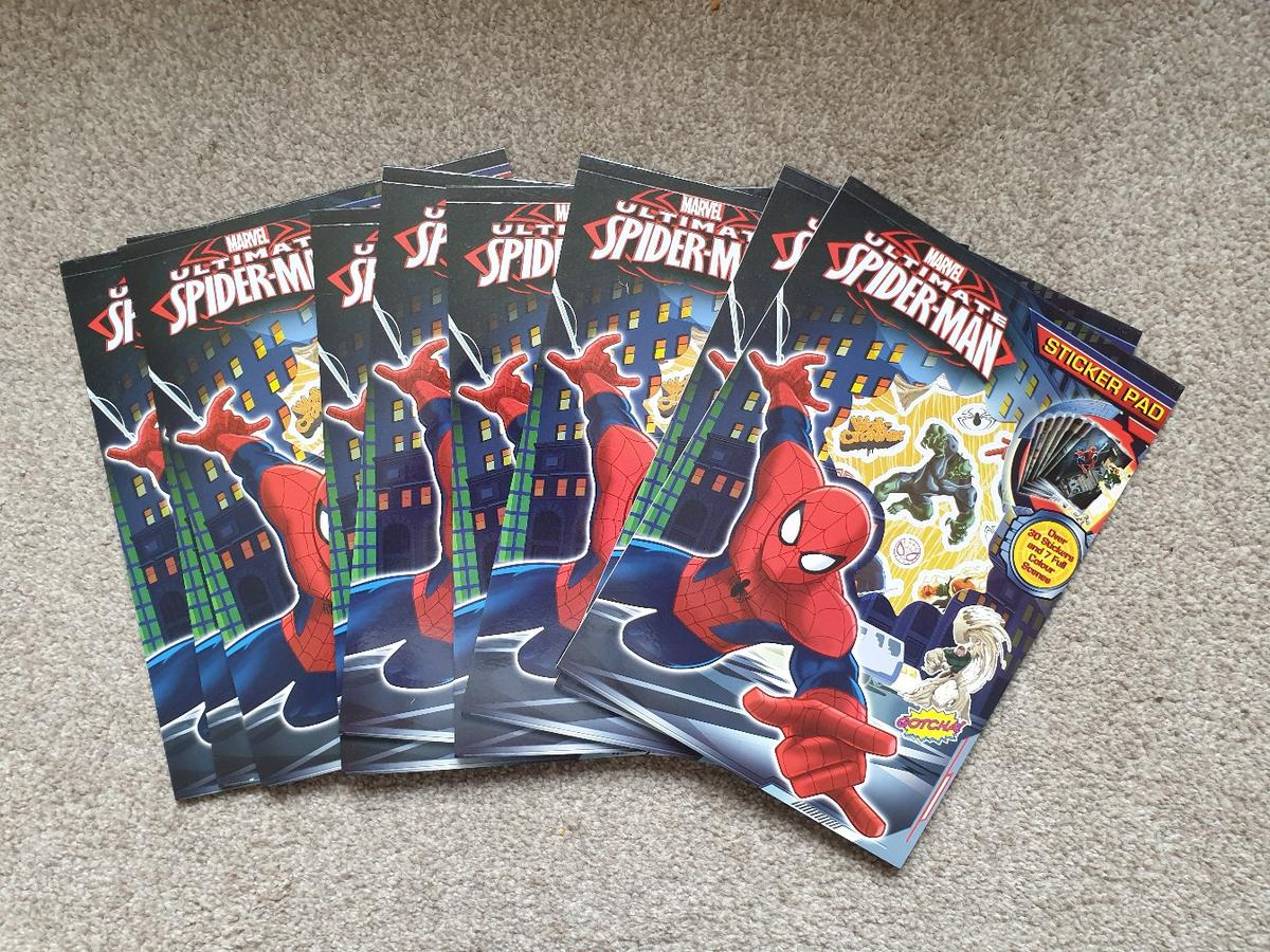 Marvel Ultimate Spiderman Colouring Set Pads Pencils Stickers Activity Set Kids